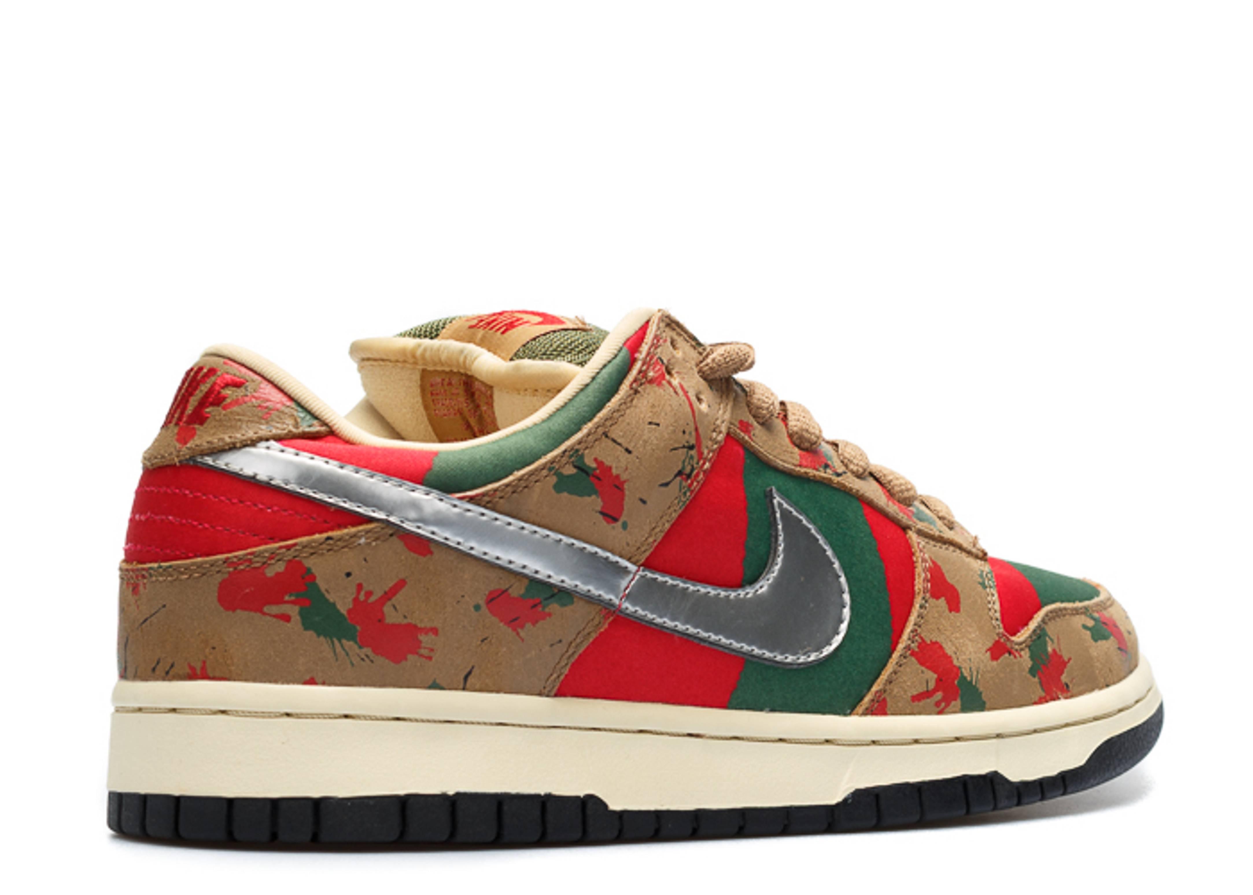check out 65273 1d673 Nike Sb Dunk Freddy Krueger High Tops Blood splatter Custom Sneakers .. dunk  low pro sb taupechrome ...