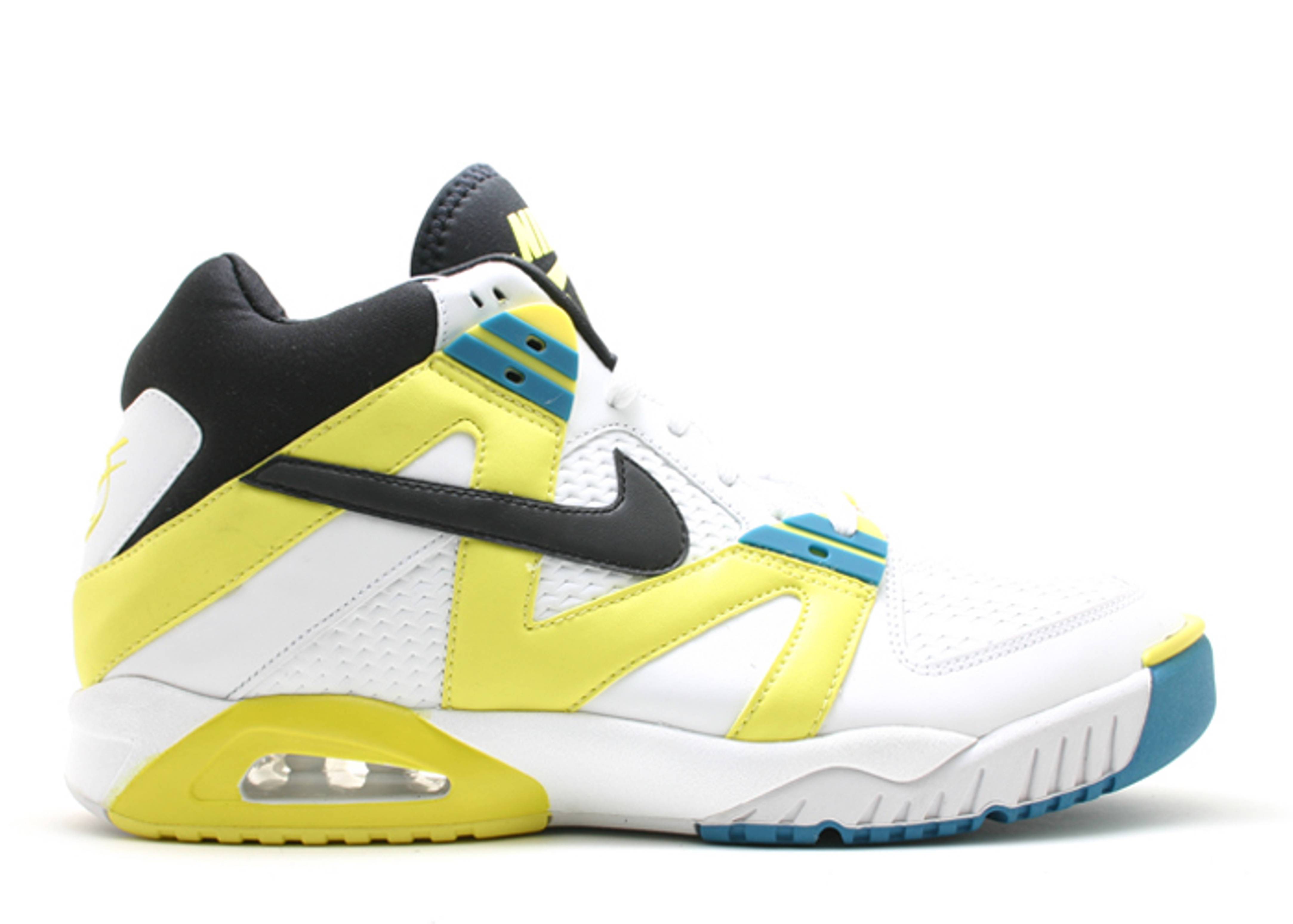 Air tech challenge agassi nike 315956 102 white black sonic yellow flight club - Nike air tech challenge ...