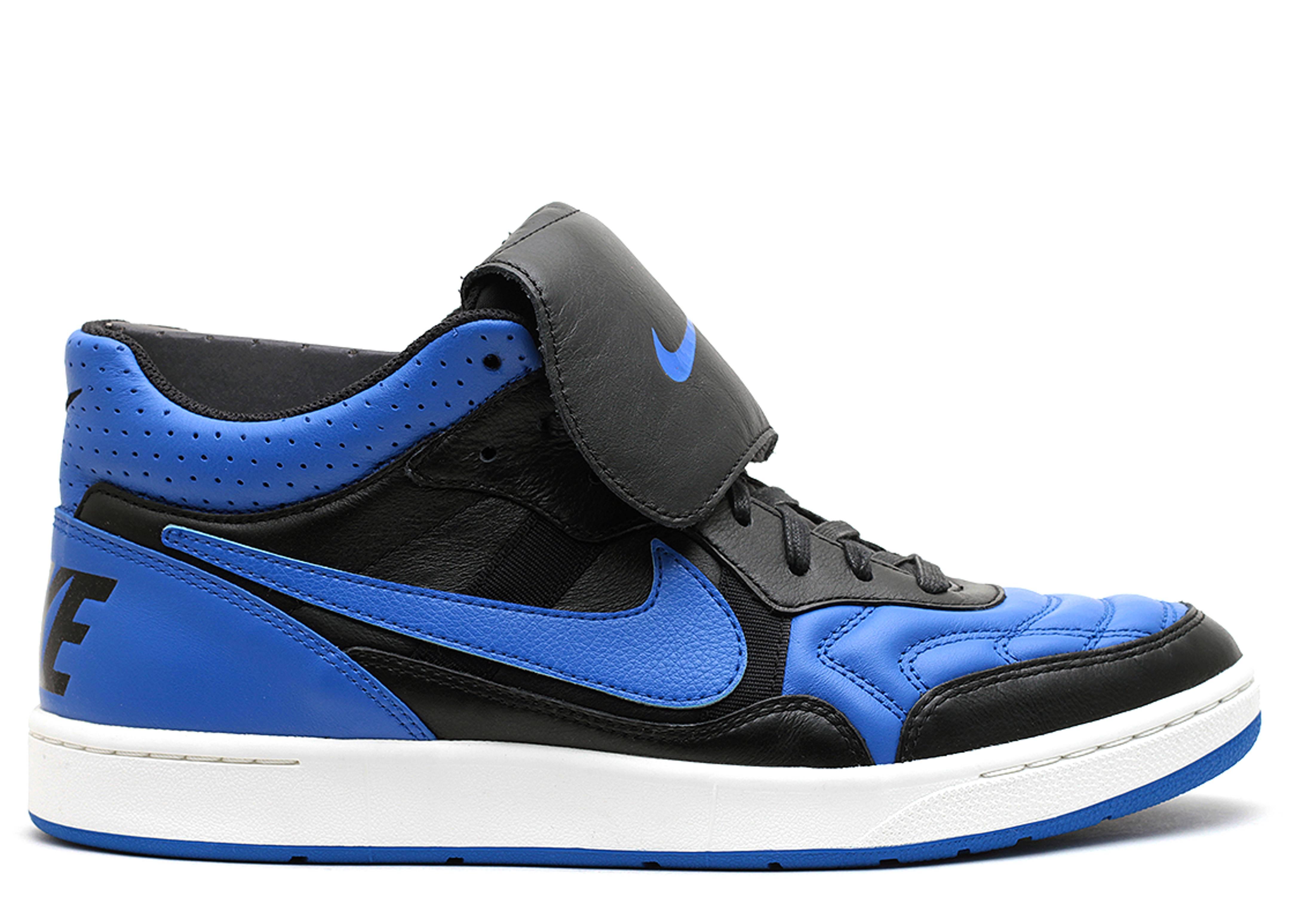 Nike Tiempo 94 Royal Sneakers (Black/Royal Blue-Ivory)