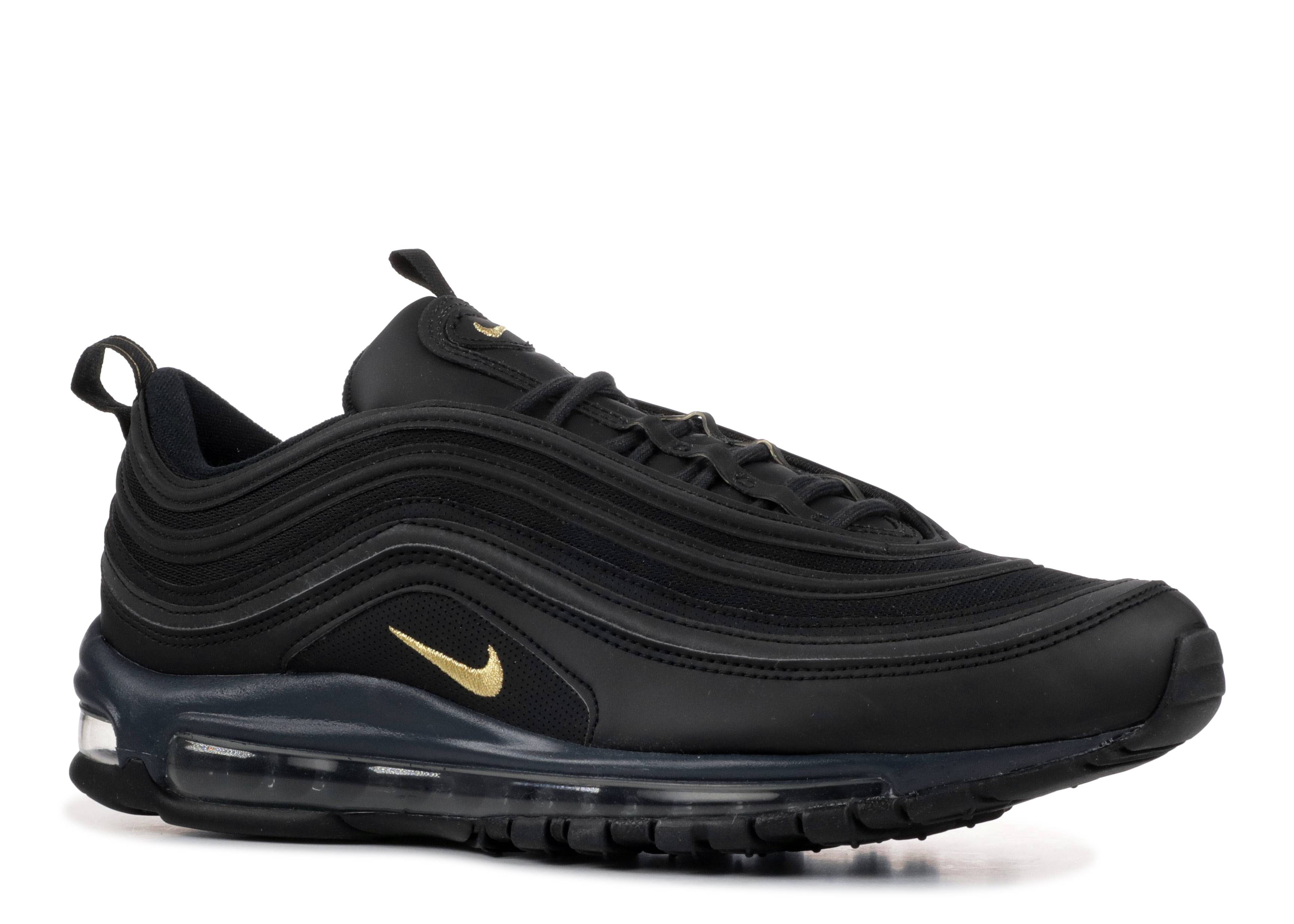 Details about Nike Air Max 97 Premium 'Black & Gold' Trainers Mens Uk Size 8.5 43 BQ4580 001