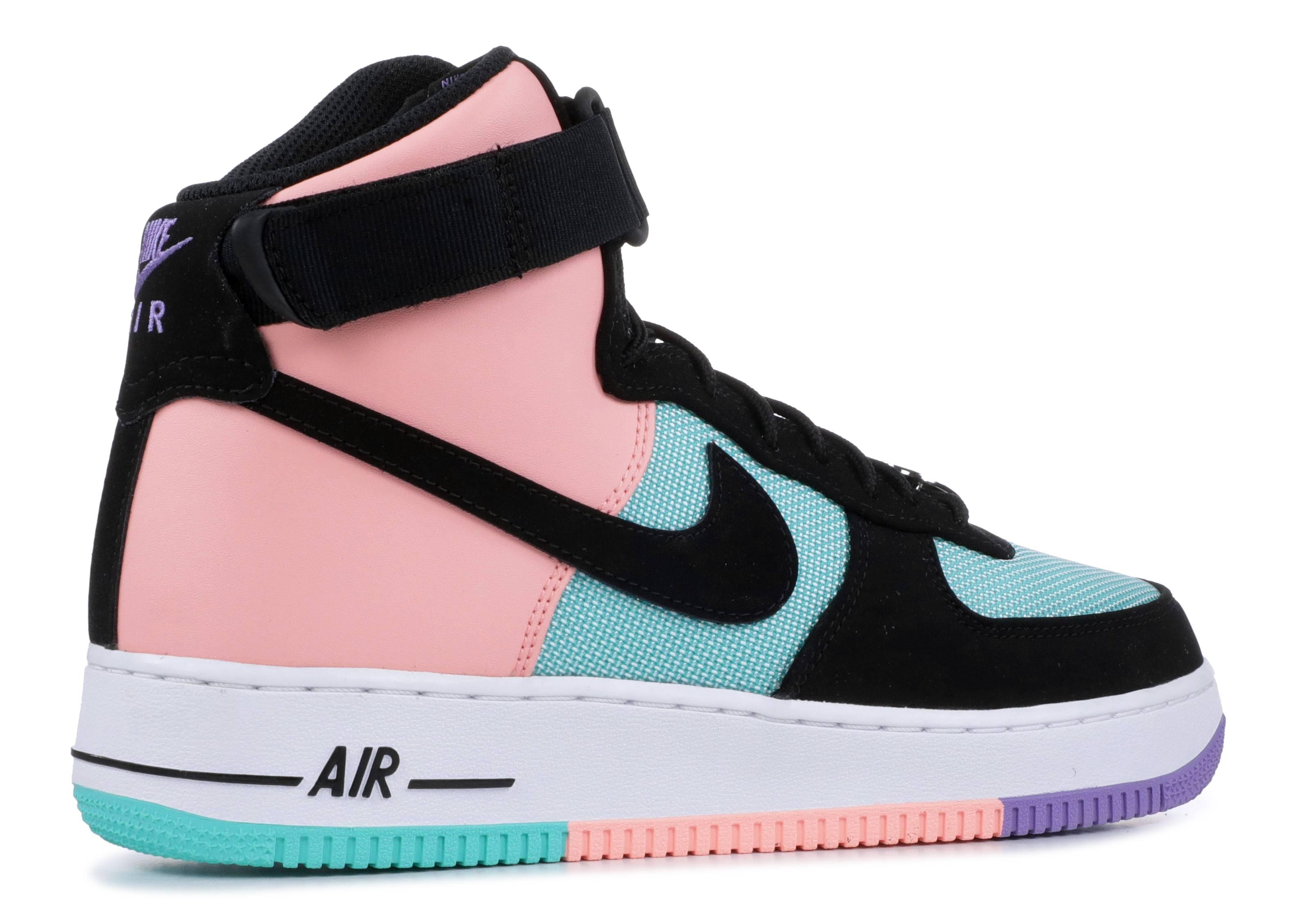voluntario Trueno De alguna manera  Air Force 1 High 'Have A Nike Day' - Nike - CI2306 300 - hyper  jade/bleached coral-space purple-black | Flight Club