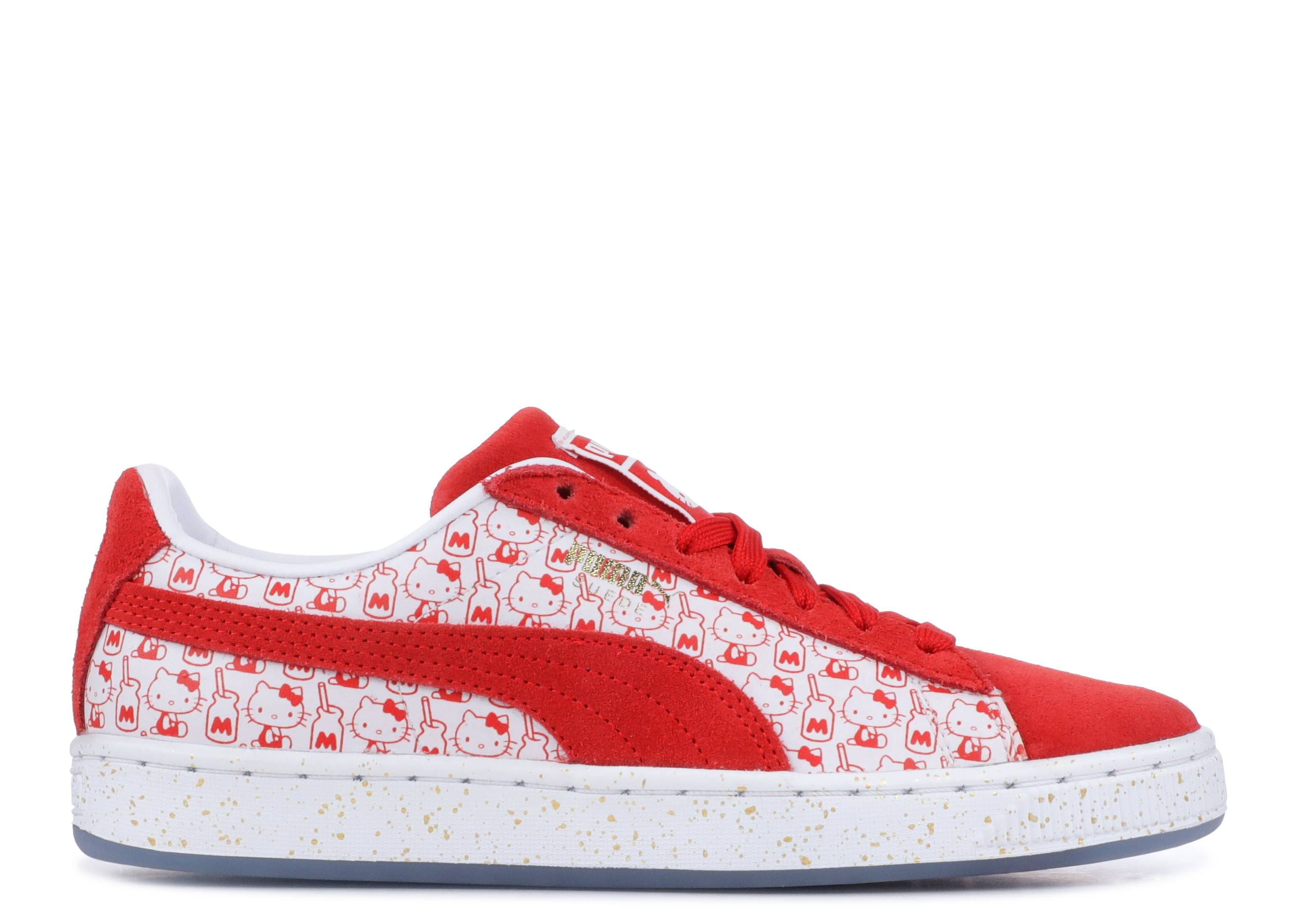 """suede classic x hello kitty """"Bright Red"""""""