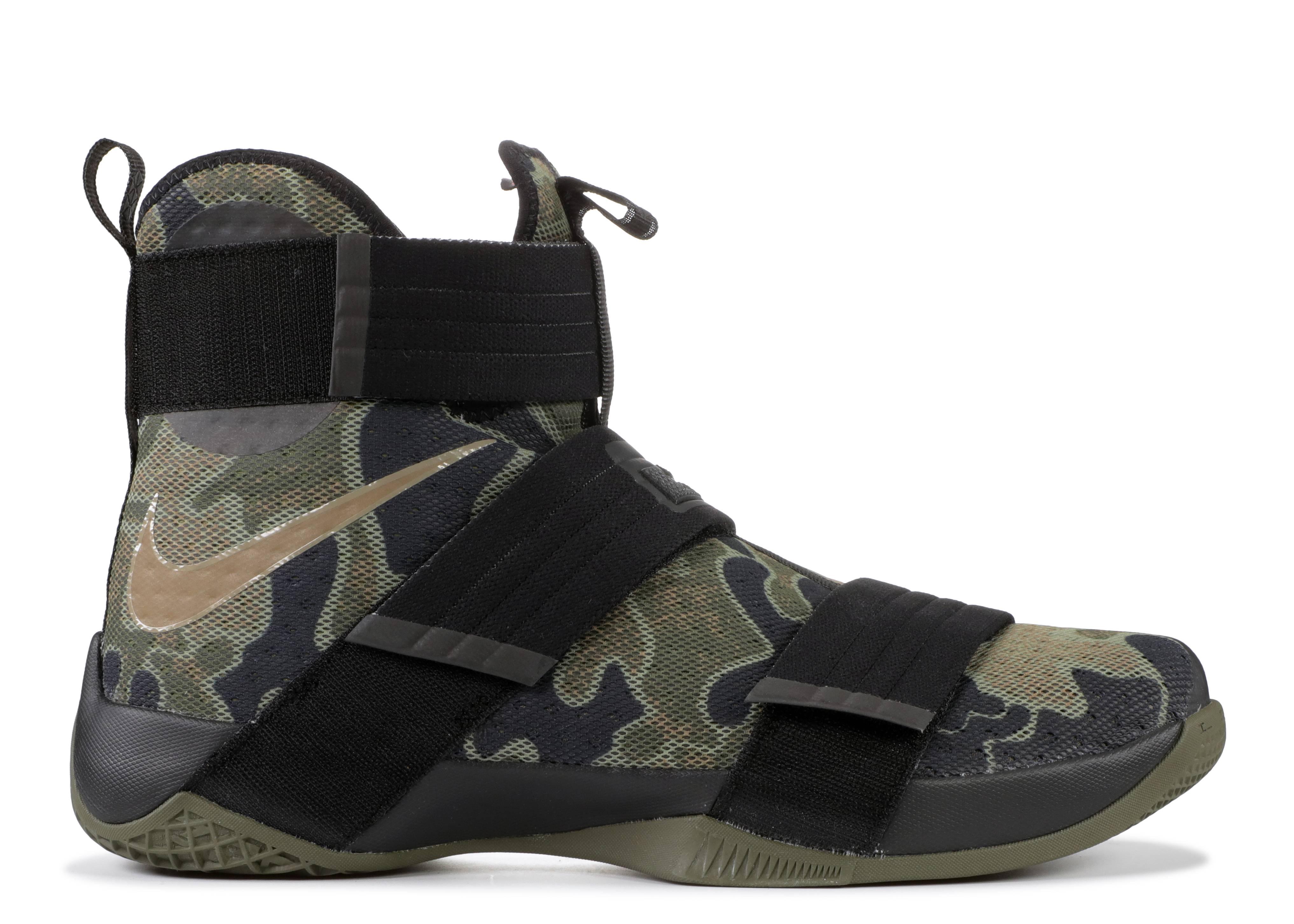 Telégrafo Fantasía Frotar  Zoom LeBron Soldier 10 'Camo' - Nike - 844378 022 - black/medium olive  green-green bamboo | Flight Club