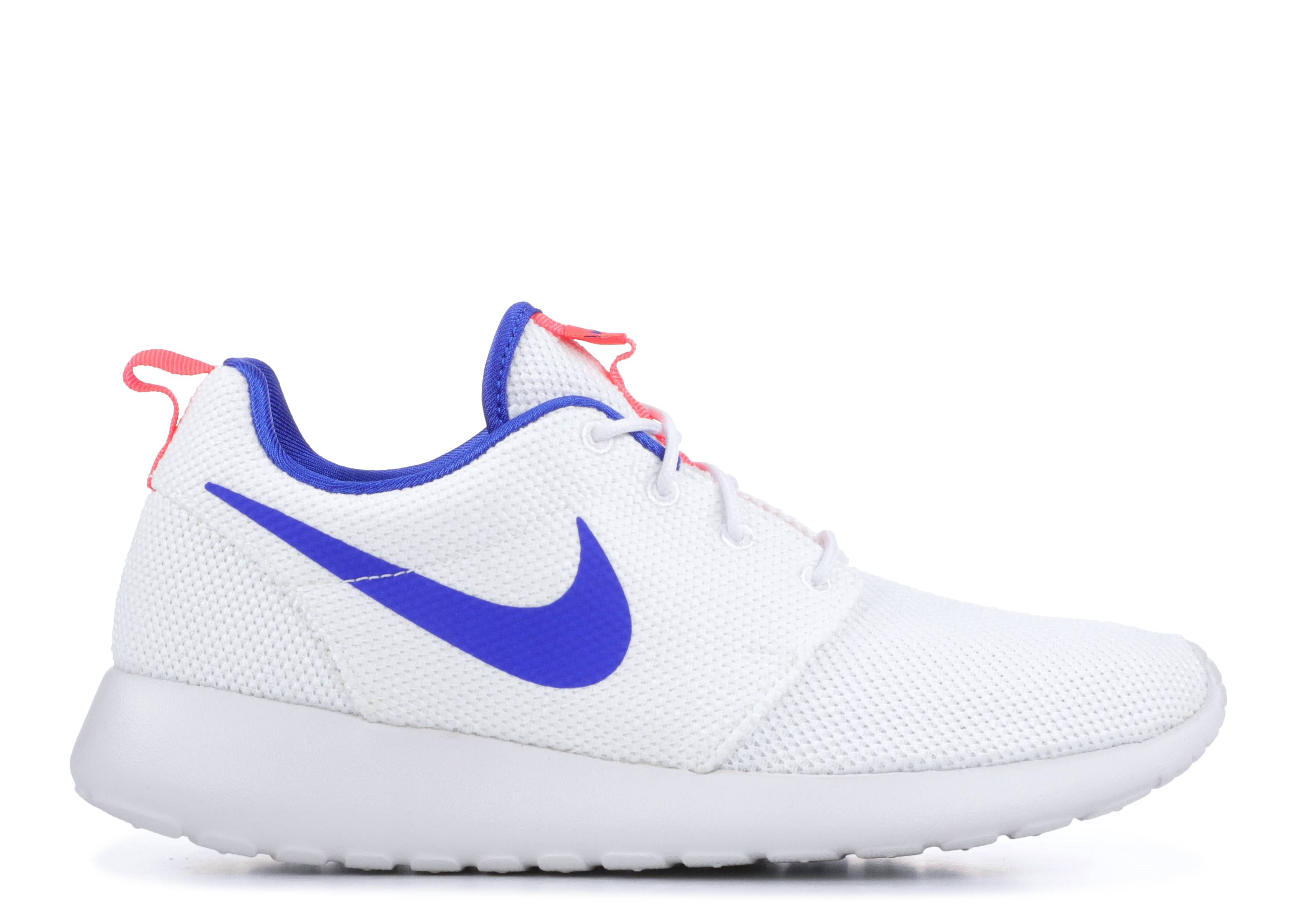 6045adea63526 Nike Roshe One - Nike - 511881 100 - white ultramarine-solar red ...
