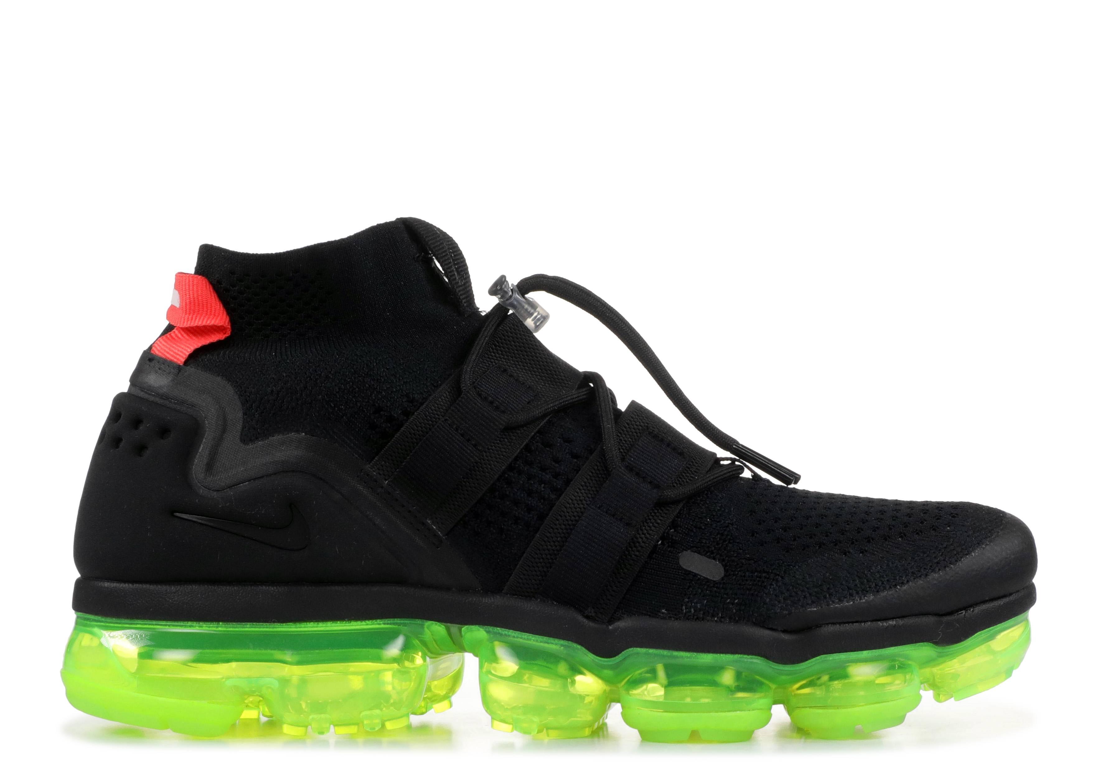 5c218e031c Nike Air Vapormax Fk Utility - Nike - ah6834 007 - black/black-volt ...