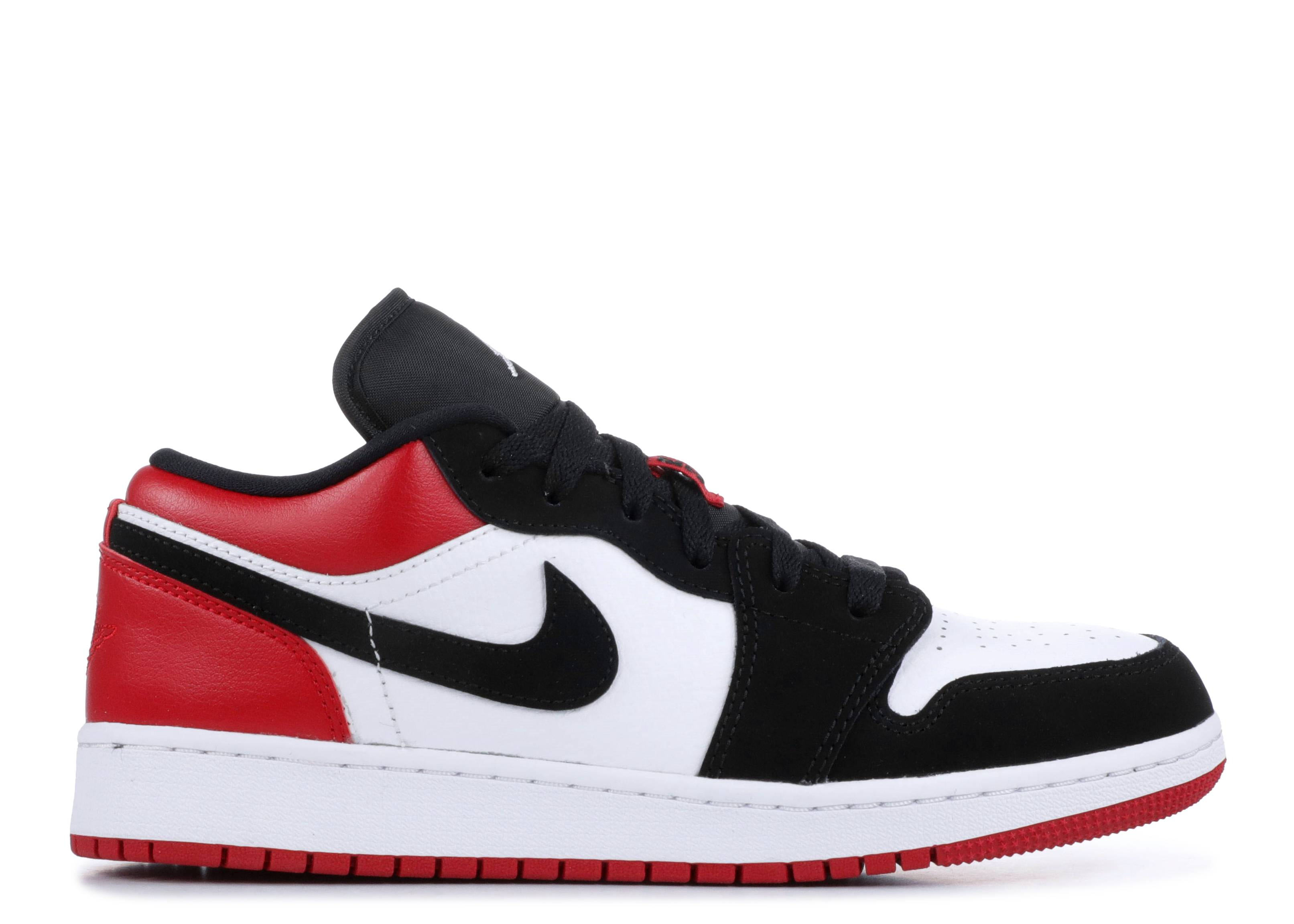 "air jordan 1 low gs ""black toe"""