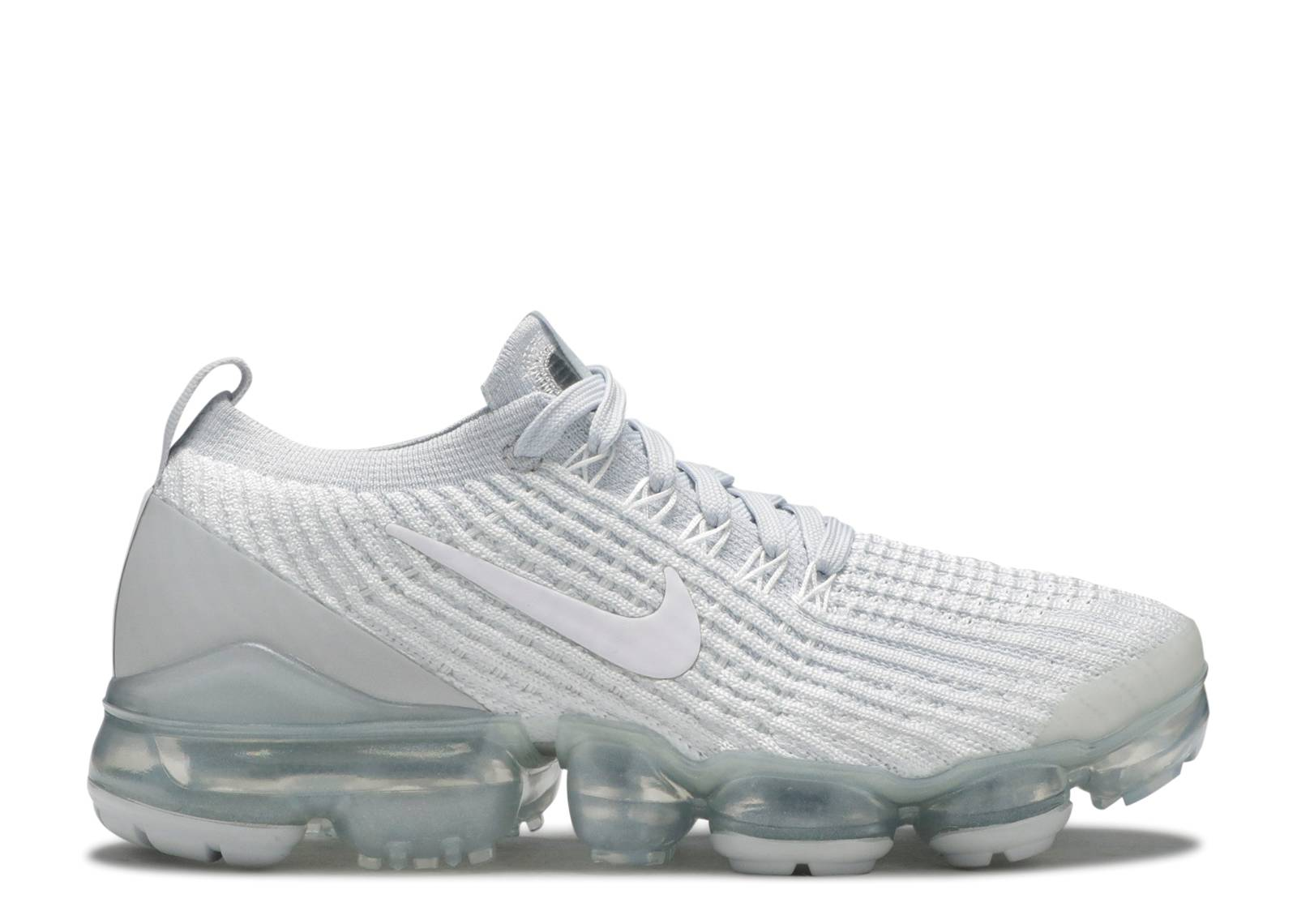 nike air vapormax flyknit 3 white/pure platinum women's shoe