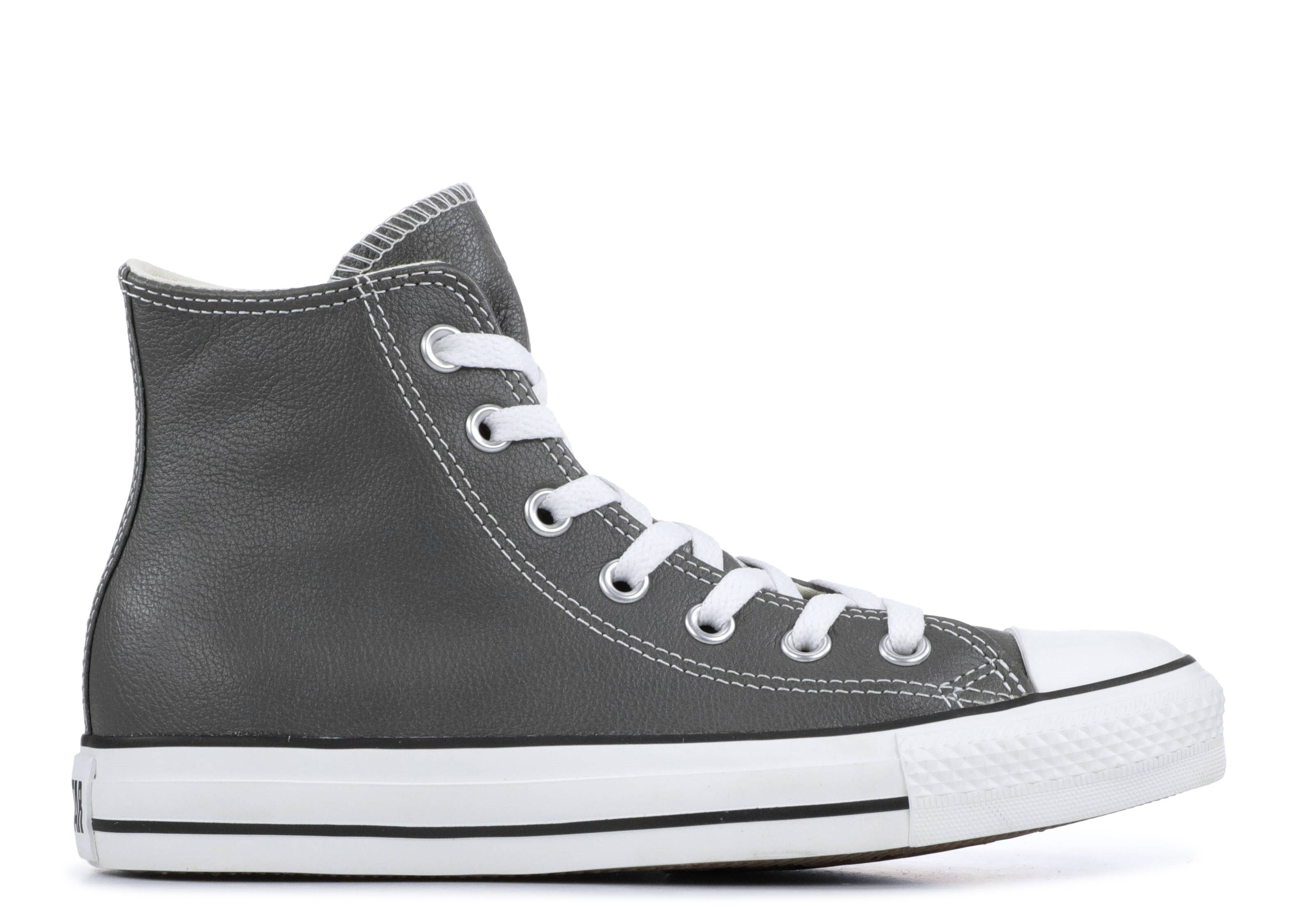 "Chuck Taylor All Star Leather High ""Charcoal"""