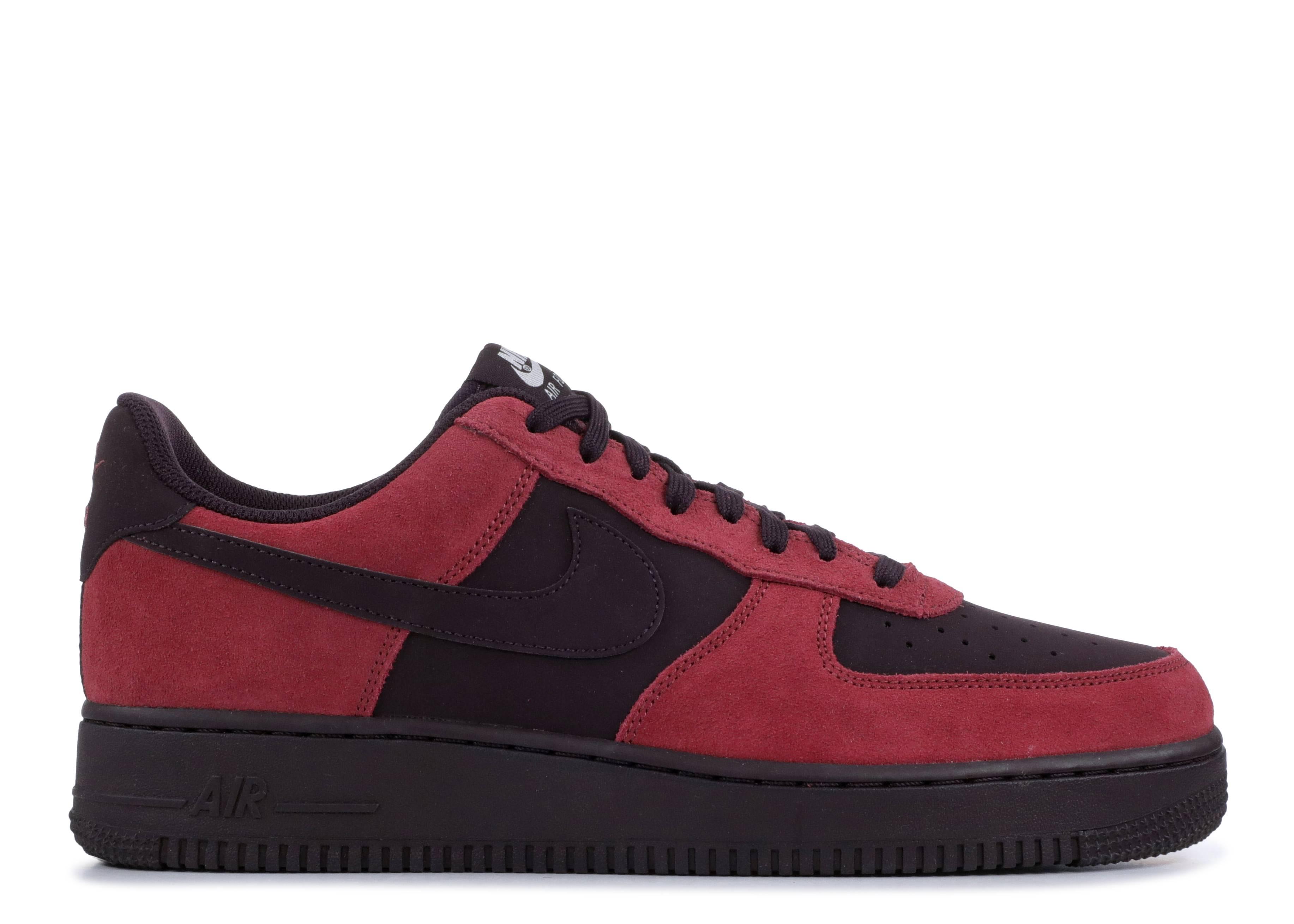 Nike Men Air Force 1 (port port wine white black)