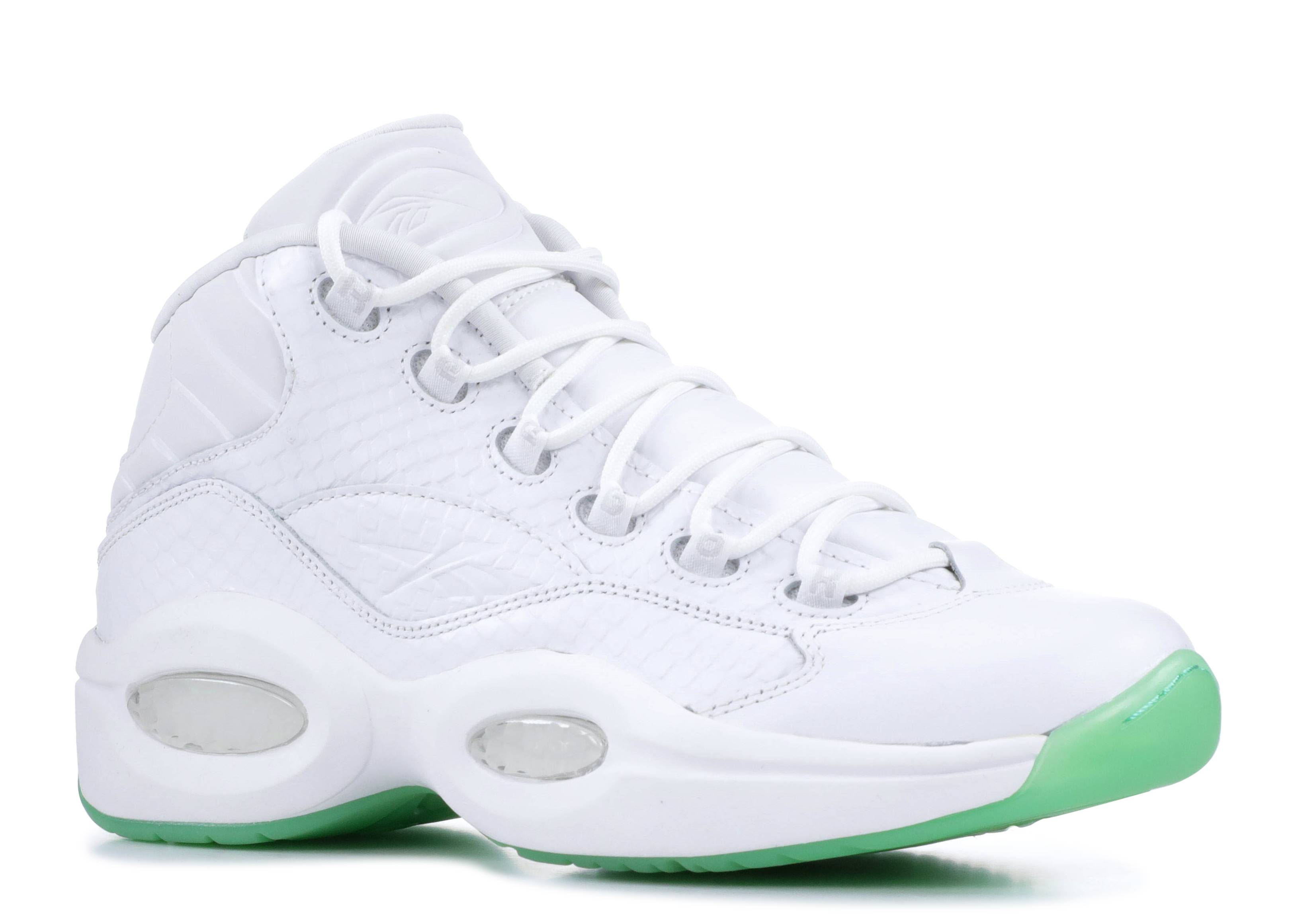 Reebok Question Mid Ee whitemint glow Basketball Schuhe