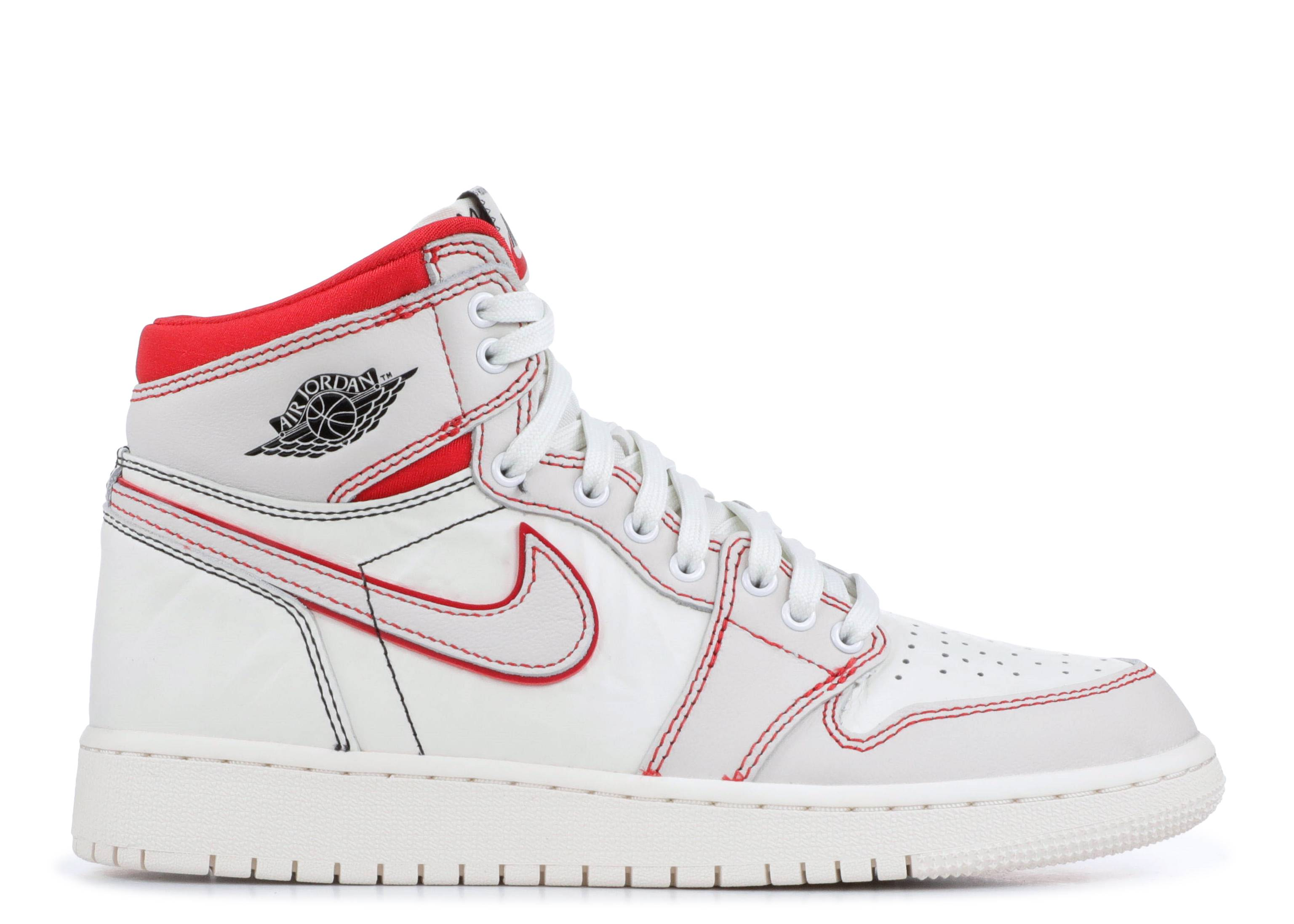 "Air Jordan 1 Retro High OG GS ""Phantom"" ""Phantom Gym Red"""