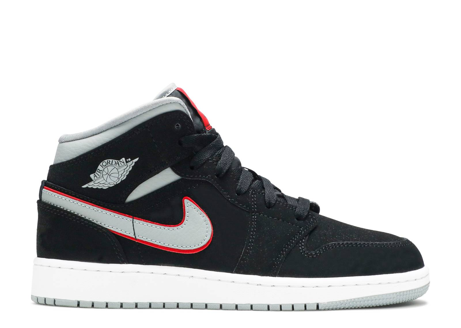 "air jordan 1 mid (gs) ""Black Particle Grey"""