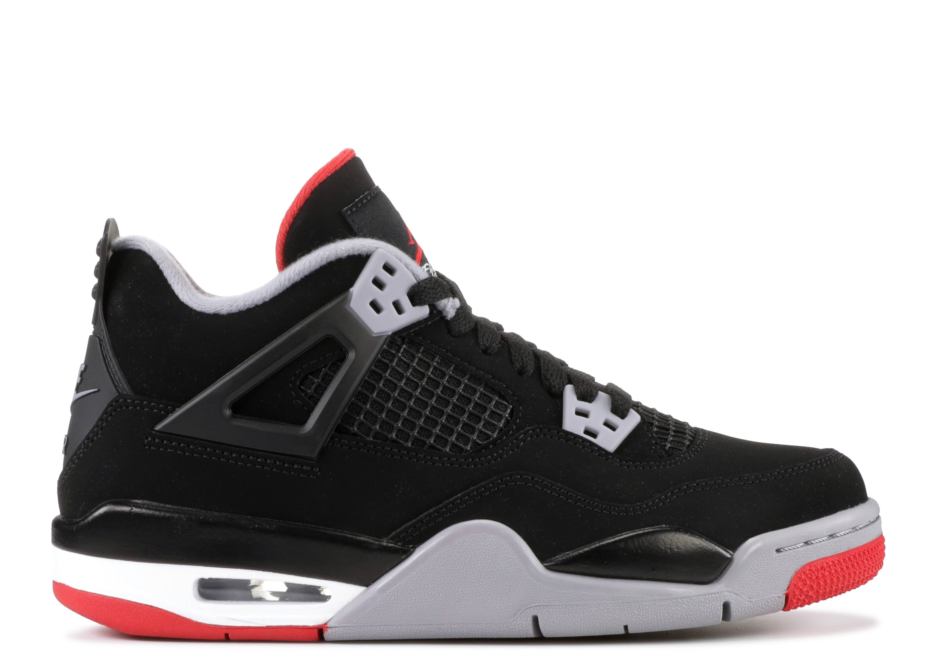 "air jordan 4 retro (gs) ""bred 2019 release"""