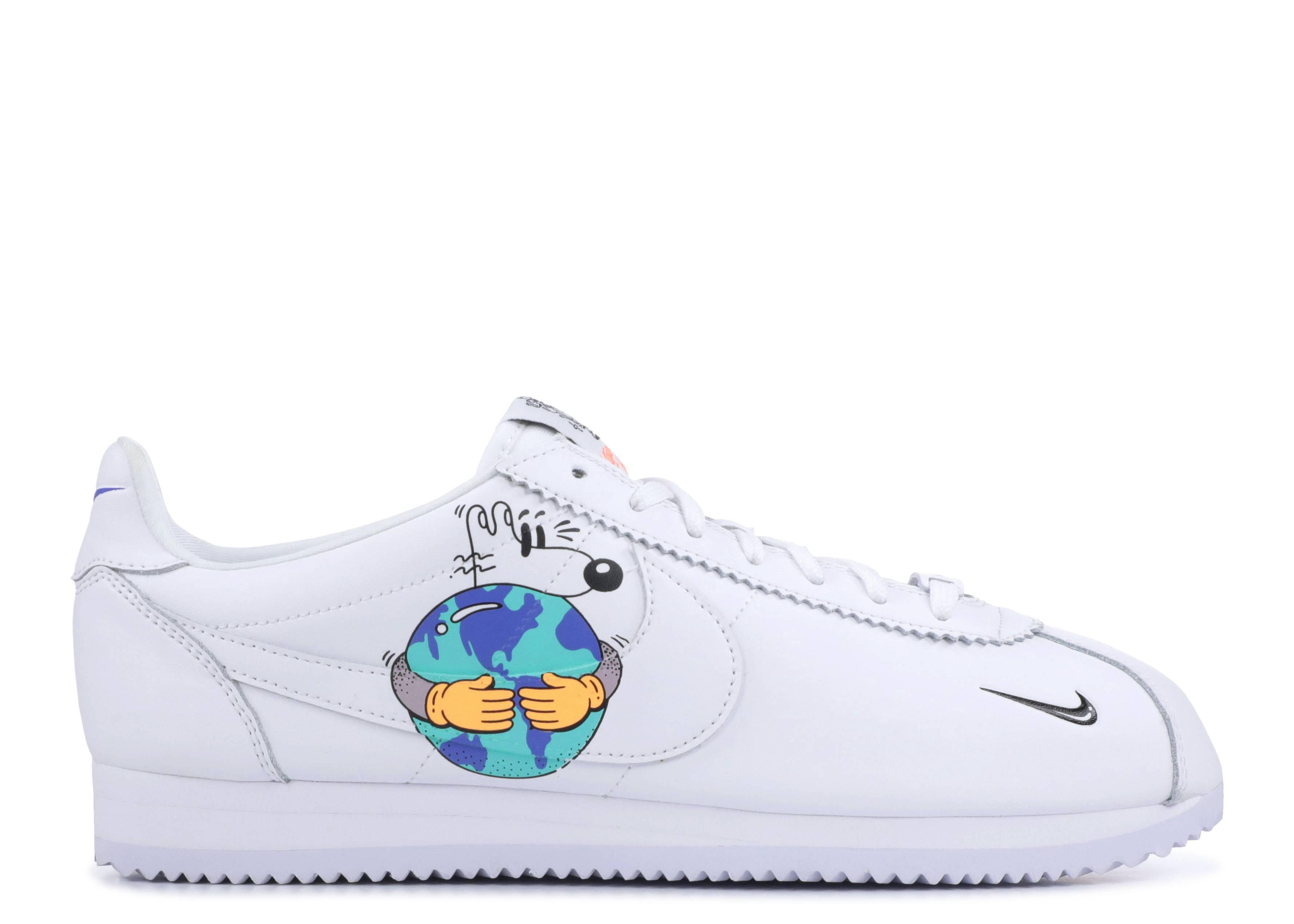 cerca misil Envío  Steve Harrington X Cortez Flyleather QS 'Earth Day' - Nike - CI5548 100 -  white/hyper crimson-melon tint-black | Flight Club