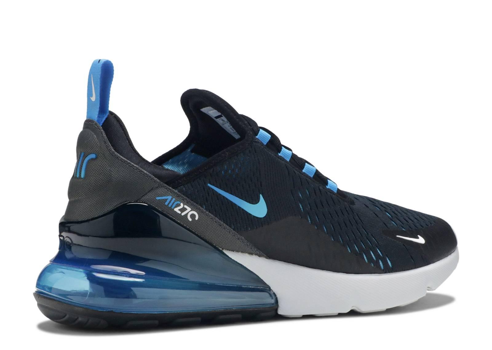2019 Nike Air Max 270 BlackPhoto Blue Blue Fury AH8050 019
