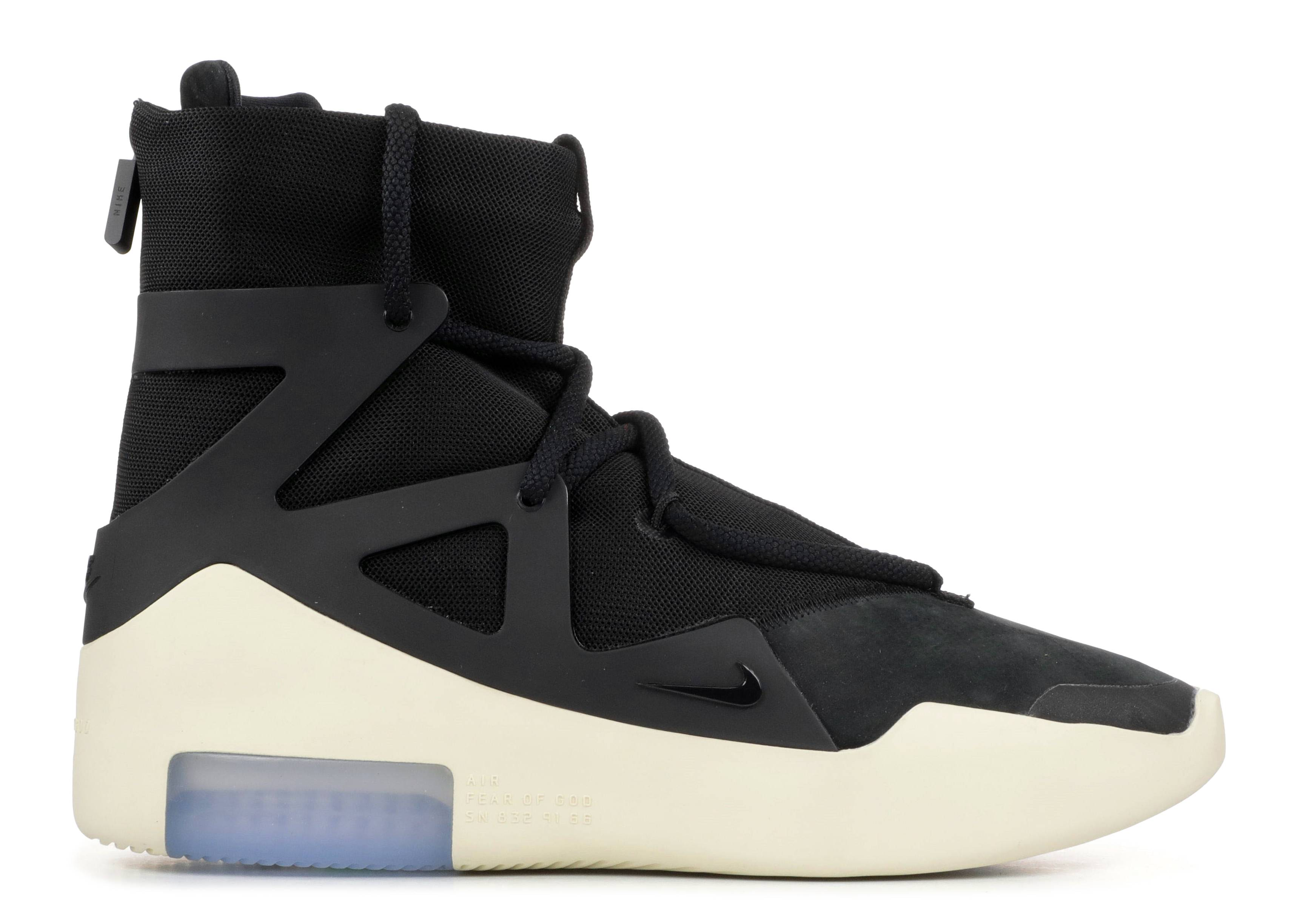 b24bd276a4fe0 Nike Air Fear Of God 1 - Nike - ar4237 001 - black/black | Flight Club