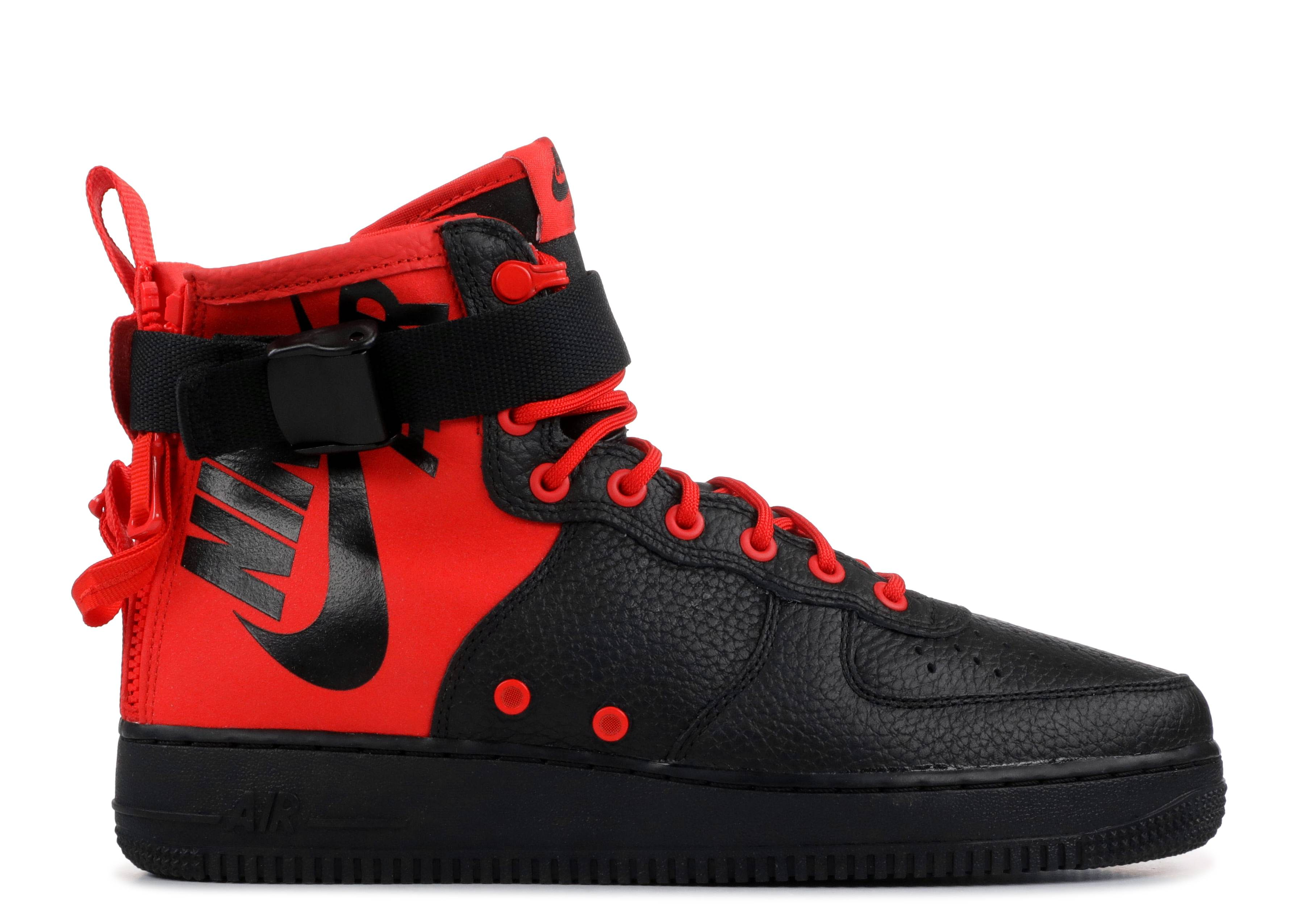 "SF Air Force 1 Mid 'Habanero Red Black' ""Habanero Red Black"""