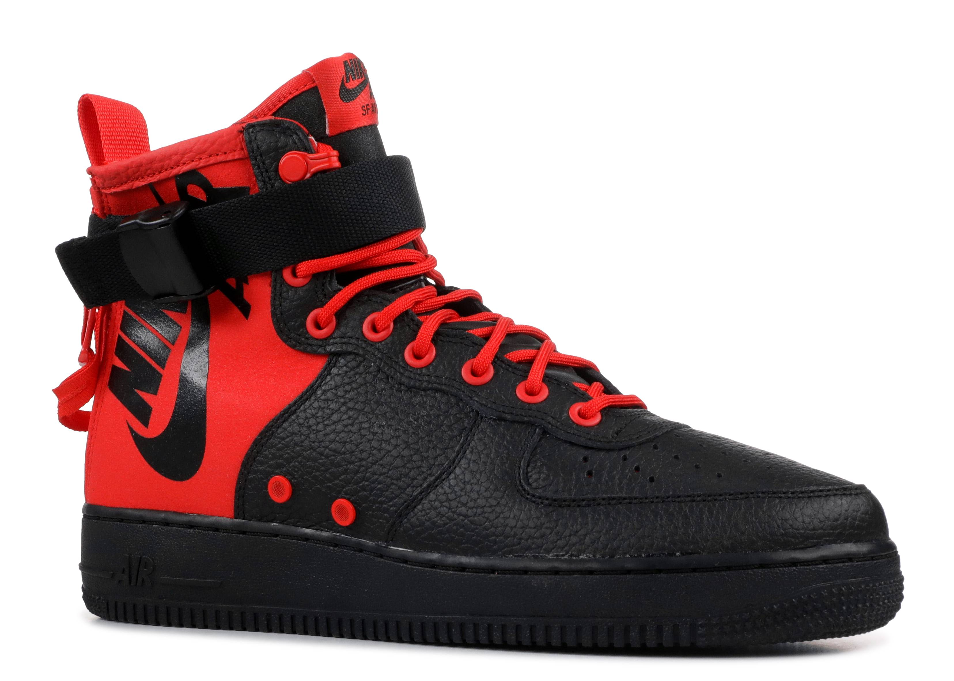 SF Air Force 1 Mid 'Habanero Red Black'