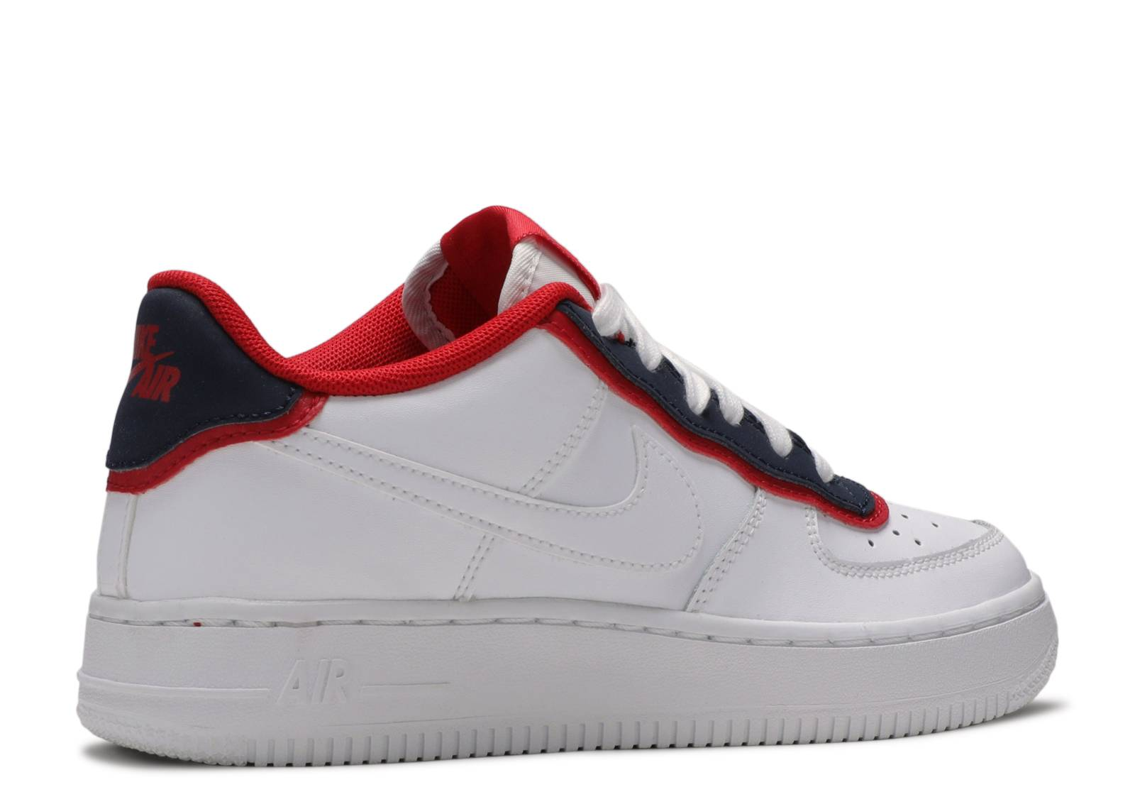 Nike Air Force 1 Low LV8 DBL GS University Red Obsidian White BV1084-101