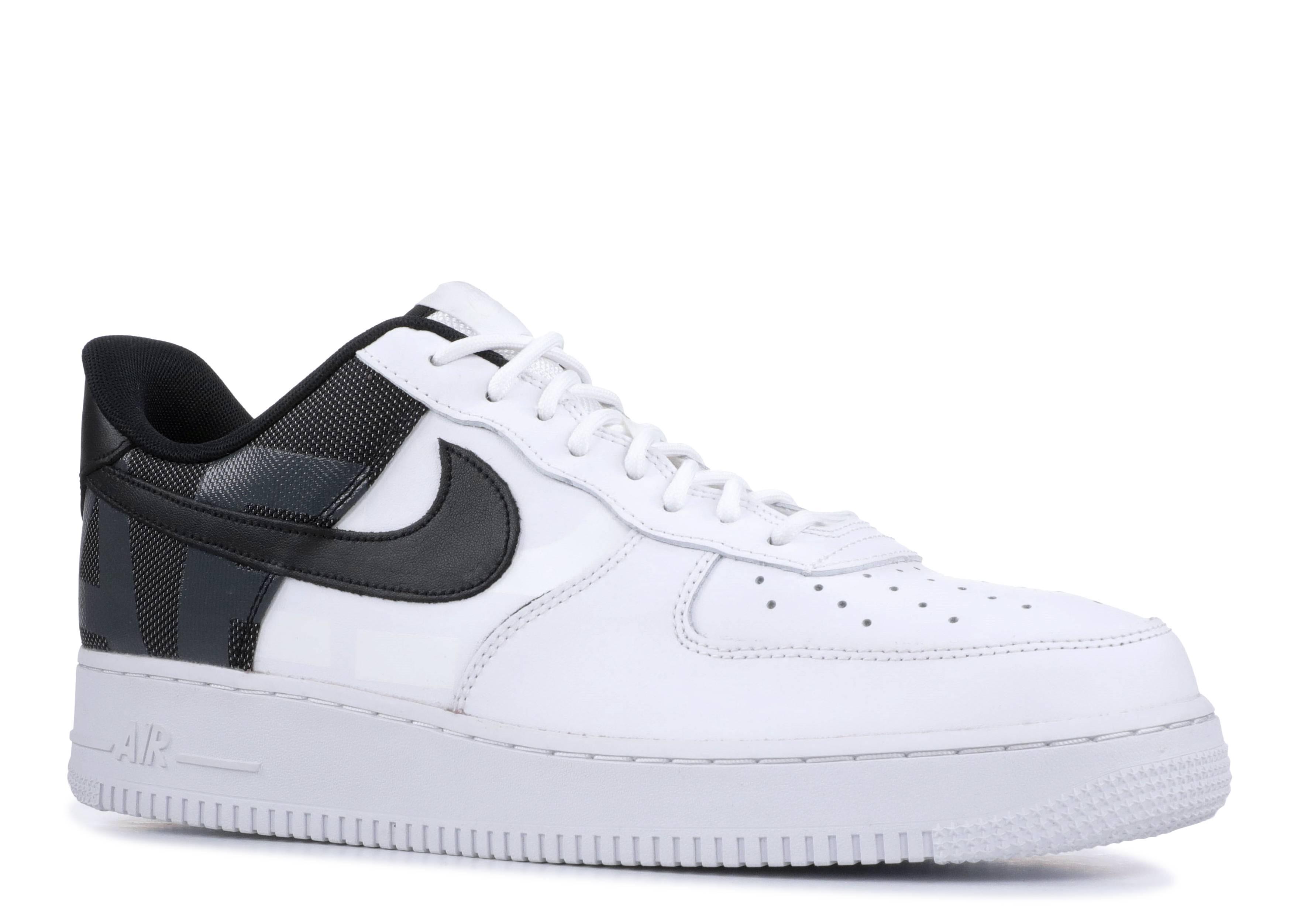 Big Logo Nike Air Force 1 Low WhiteWhiteBlack AV8363 100