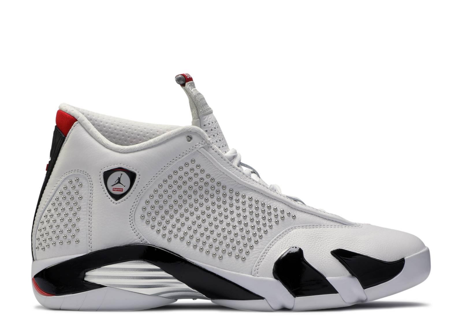 capítulo esponja Exclusivo  Supreme X Air Jordan 14 Retro 'White' - Air Jordan - BV7630 106 -  white/university red/black | Flight Club
