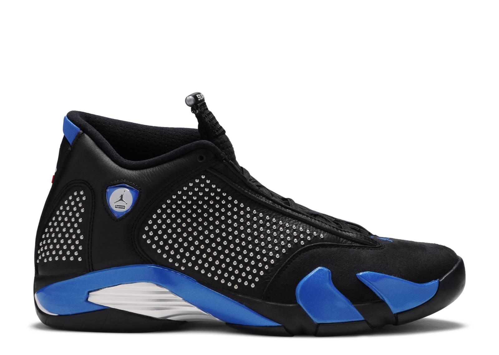 """Supreme x Air Jordan 14 Retro SP """"Black Varsity Royal"""""""