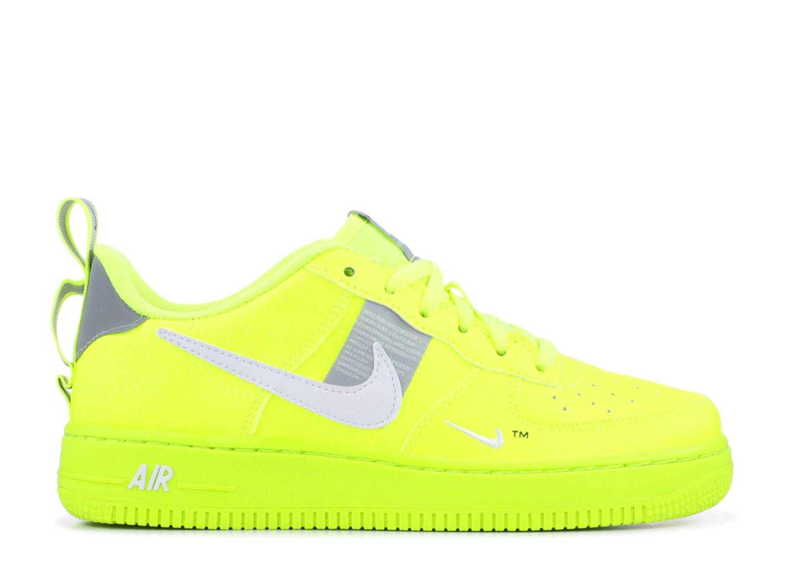 "NIKE AIR FORCE 1 '07 LV8 UTILITY ""VOLT/WHITE-BLACK-WOLF GREY"""
