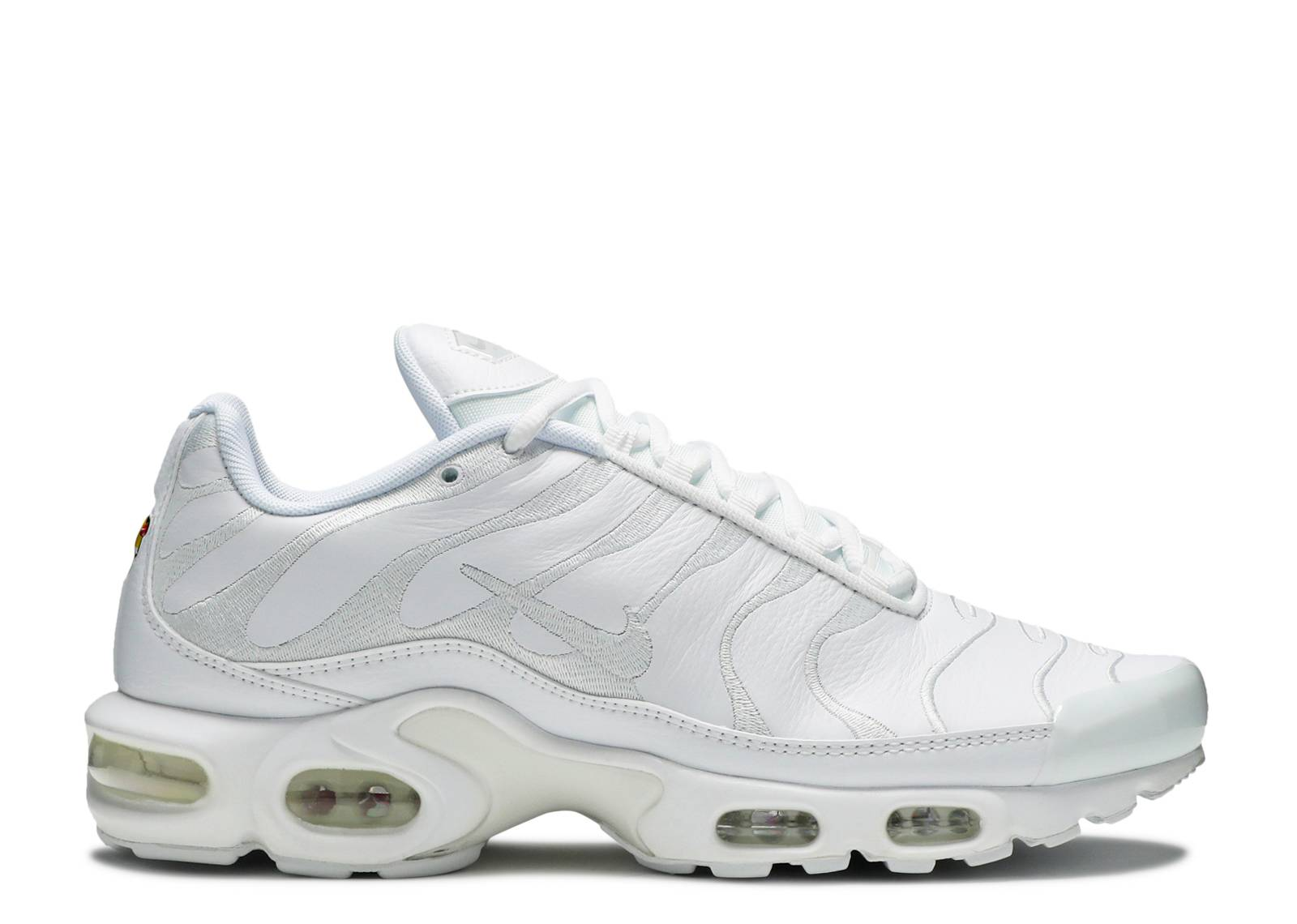 Men's Nike Air Max Plus TN 2018 Triple White Boys Running Shoes NIKE001294