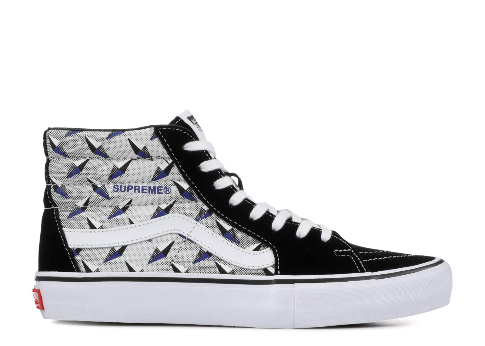 "Supreme x Sk8-Hi Pro 'Diamond Plate Black Grey' ""Diamond Plate Black Grey"""