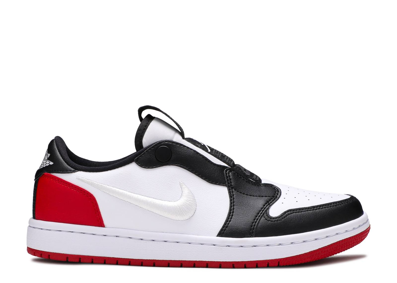 "Wmns Air Jordan 1 Low Slip 'Black Toe' ""Black Toe"""