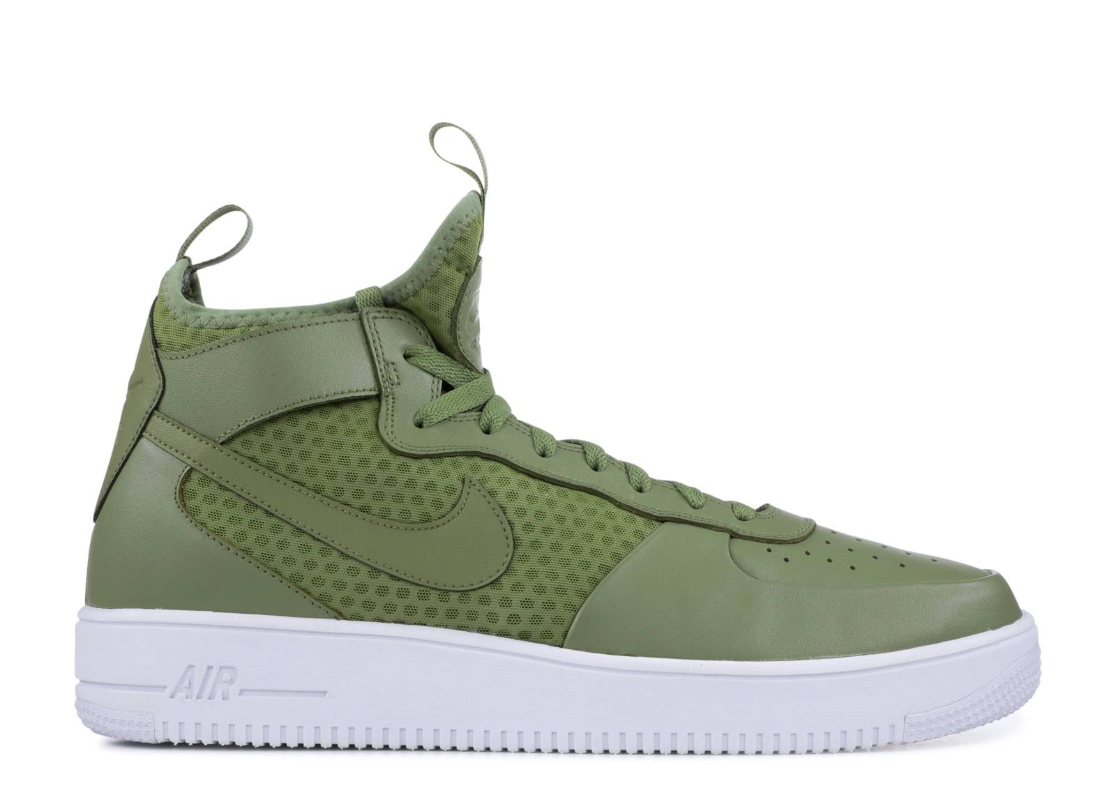 Mens Nike Air Force 1 UltraForce MID Palm GreenWhite 864014