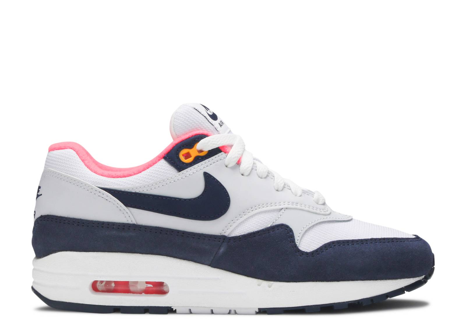 Details about Womens Nike Air Max 1 Midnight Navy Blue White Sneaker Shoe 319986 116 Size 9