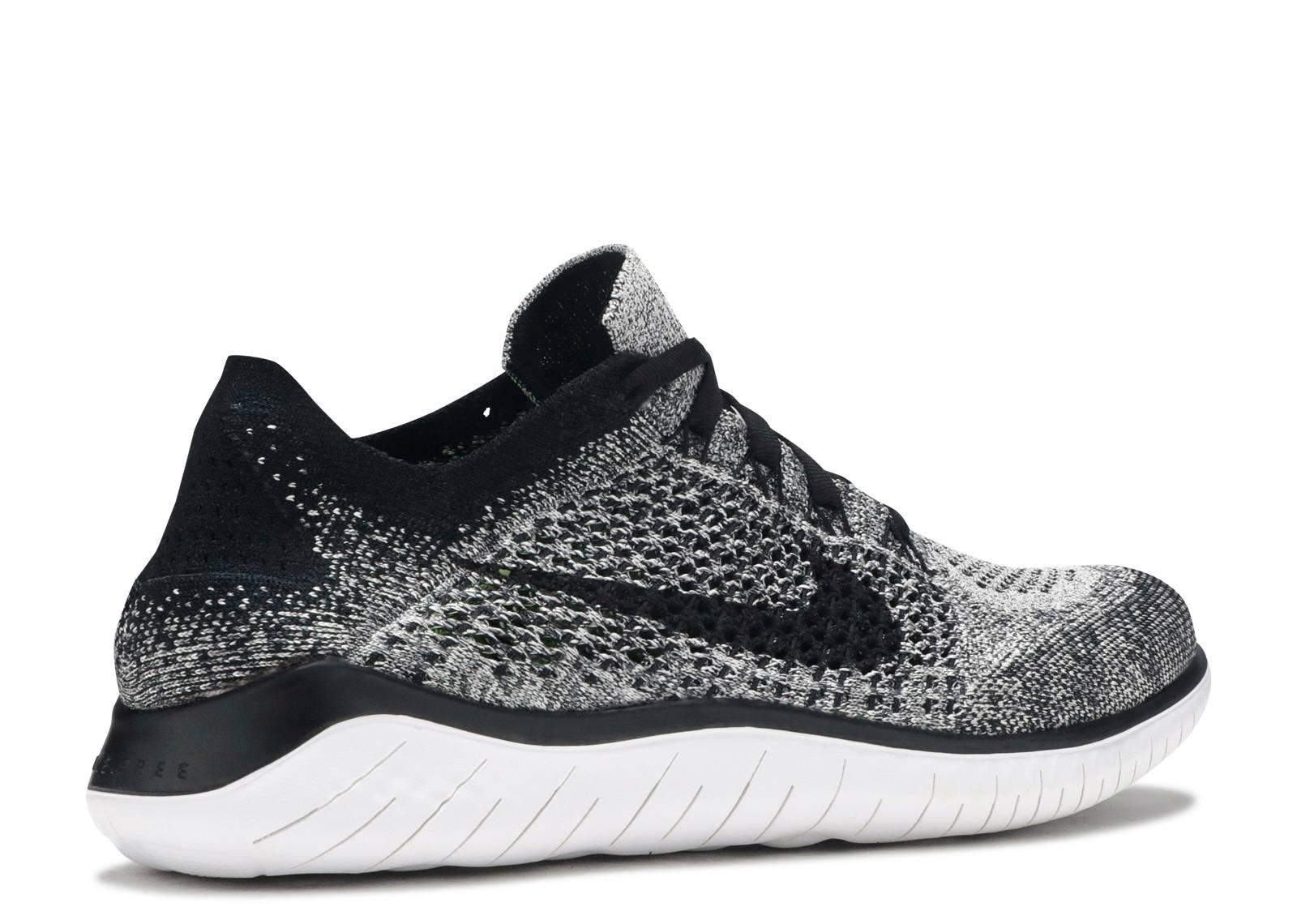 Nike Men's Free RN Flyknit 2018 Running Shoes (9, BlackWhiteBlack)