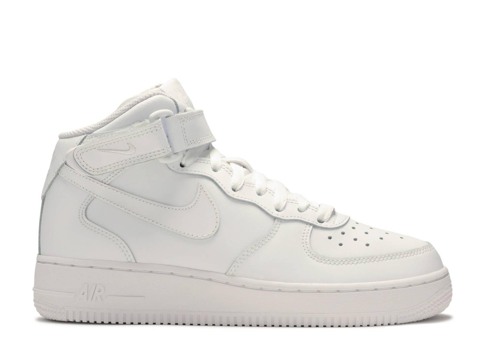 314195 113 Nike Air Force 1 Mid GS Triple White | KicksCrew