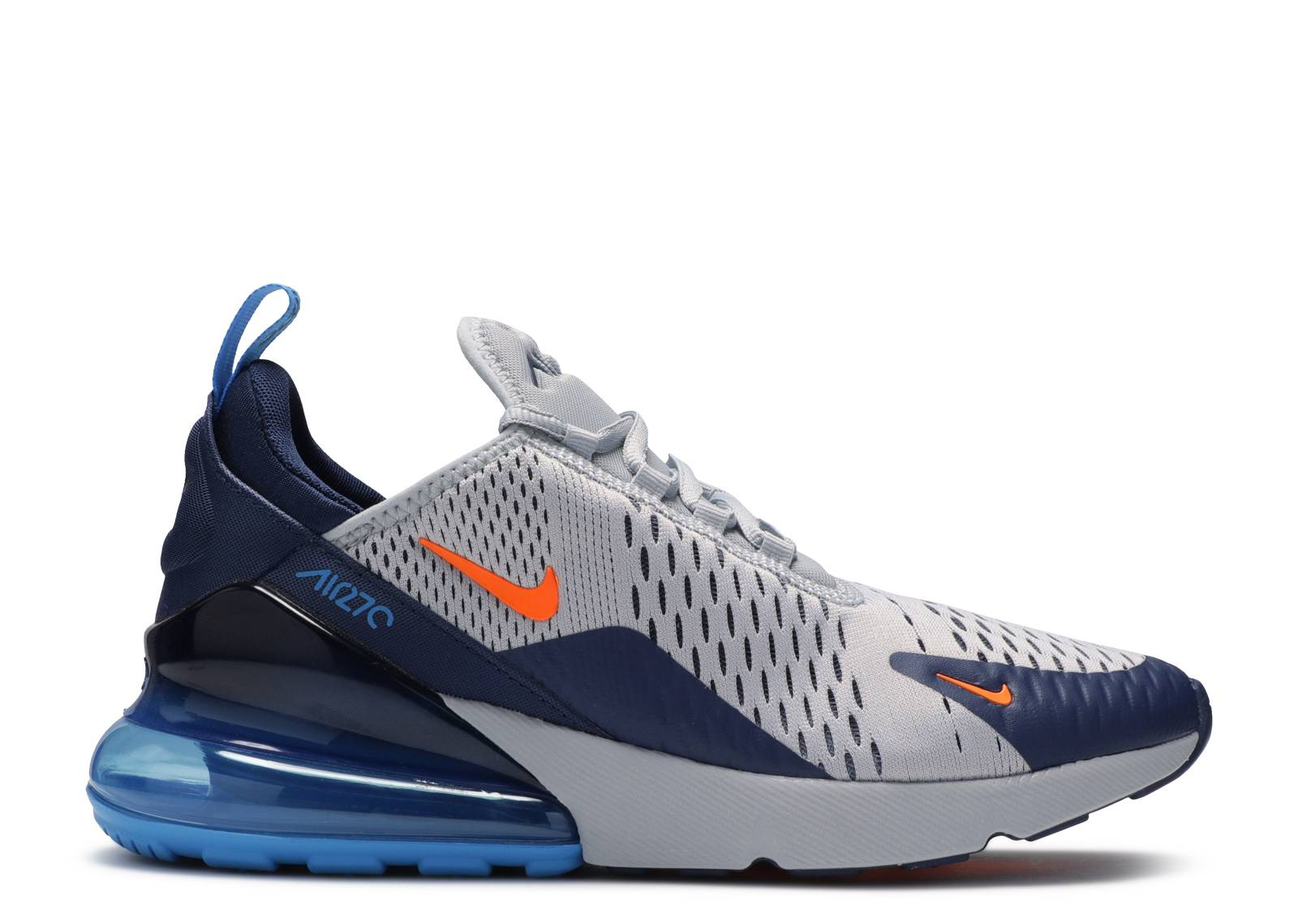 Nike Wmns Air Max 270 Wolf GreyMidnight Navy Photo Blue