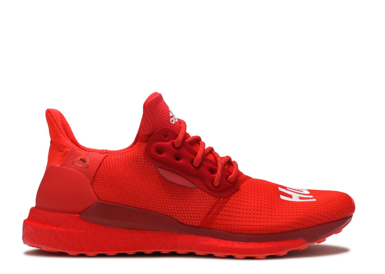 Pharrell Williams adidas Solar Hu Glide Red EF2381 Release