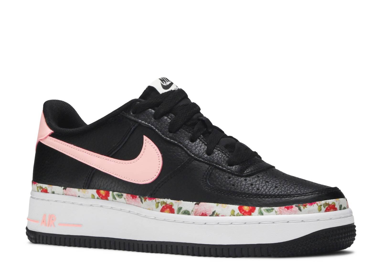 Nike Air Force 1 Vintage Floral Black Pink | BQ2501 001