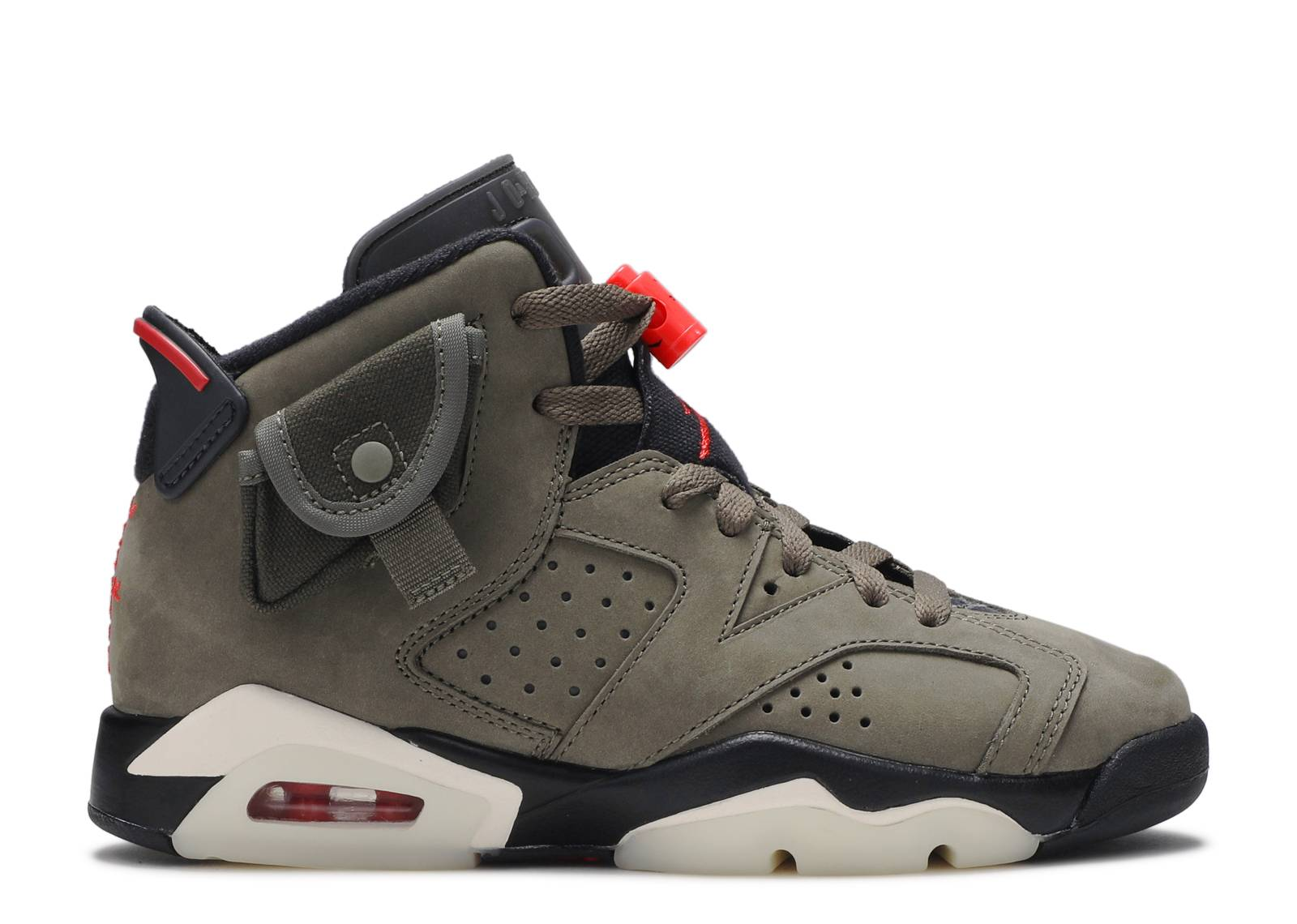 "Travis Scott x Air Jordan 6 Retro GS ""Olive"""