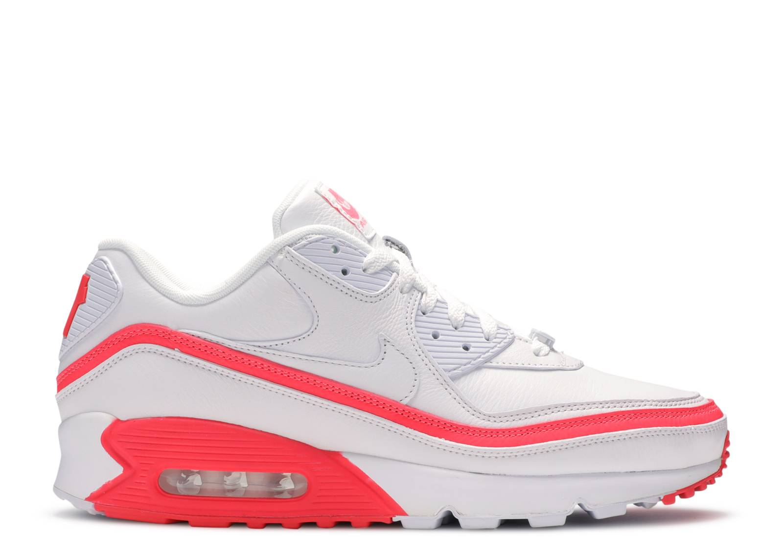 "Undefeated x Air Max 90 ""White Solar Red"""