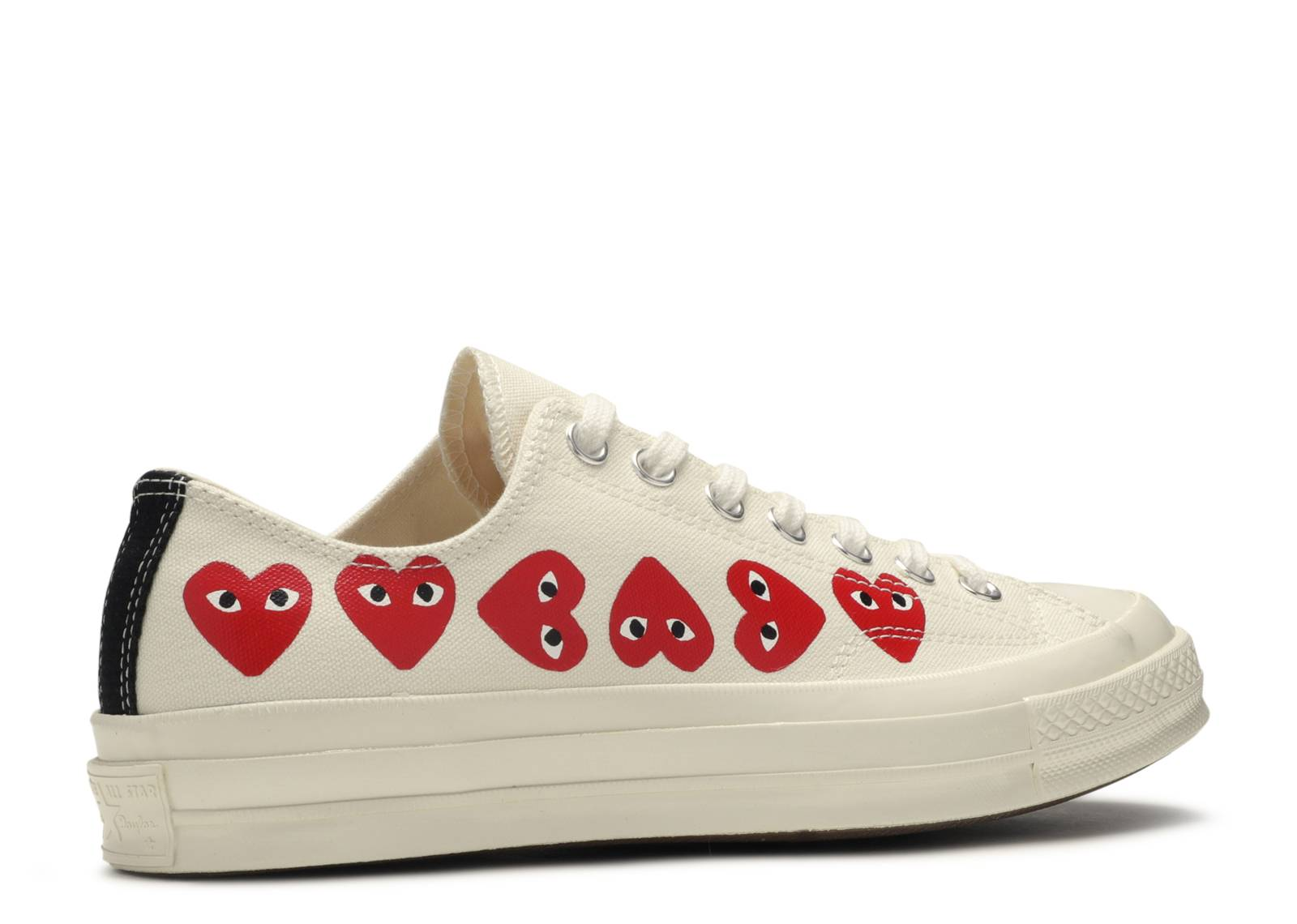 Servicio Decepcionado perdón  Comme Des Garçons Play X Chuck 70 Low Top 'Multi Heart' - Converse -  162975C - white | Flight Club