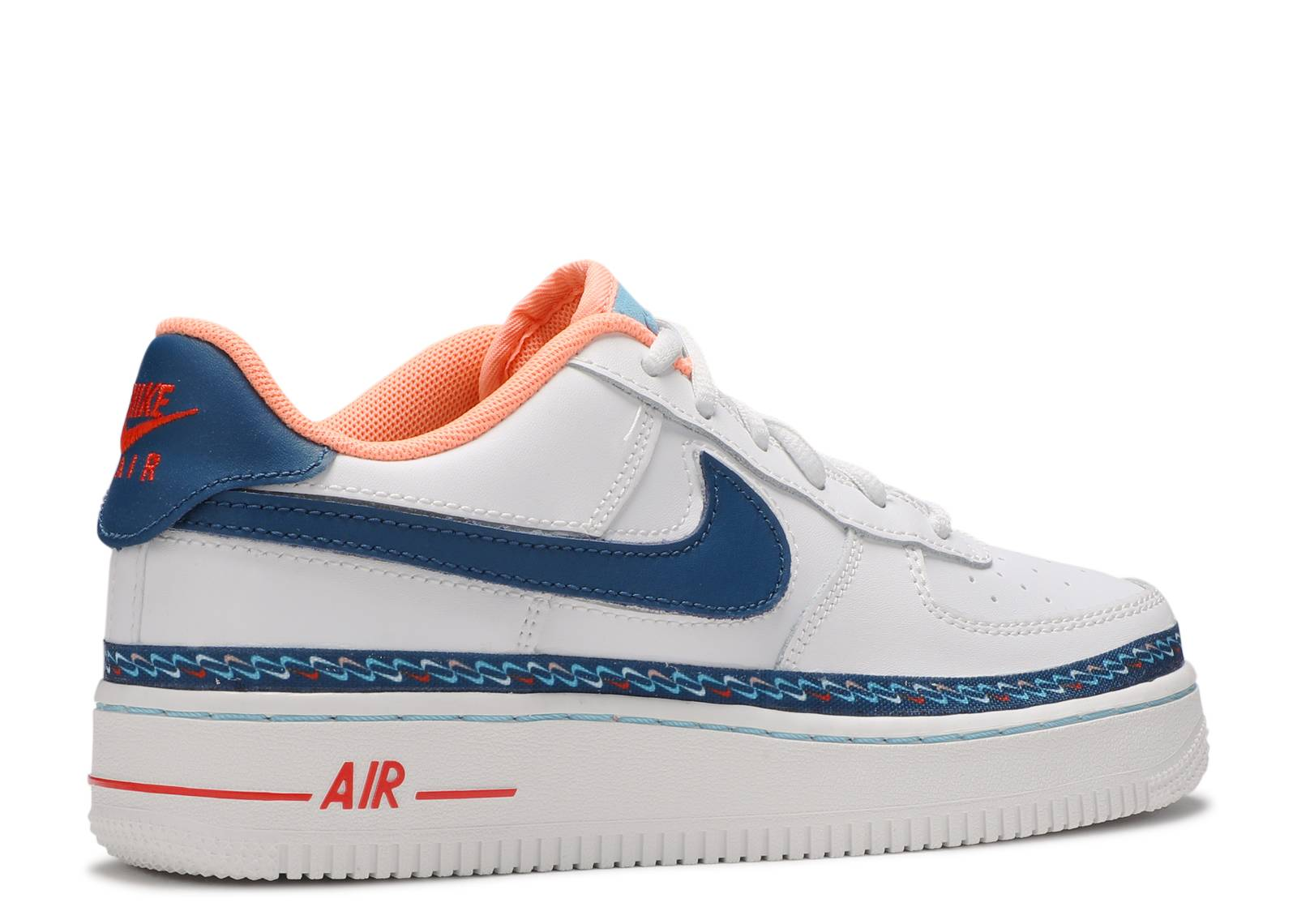 Women's Nike Air Force 1 White Blue Orange CK9708 100