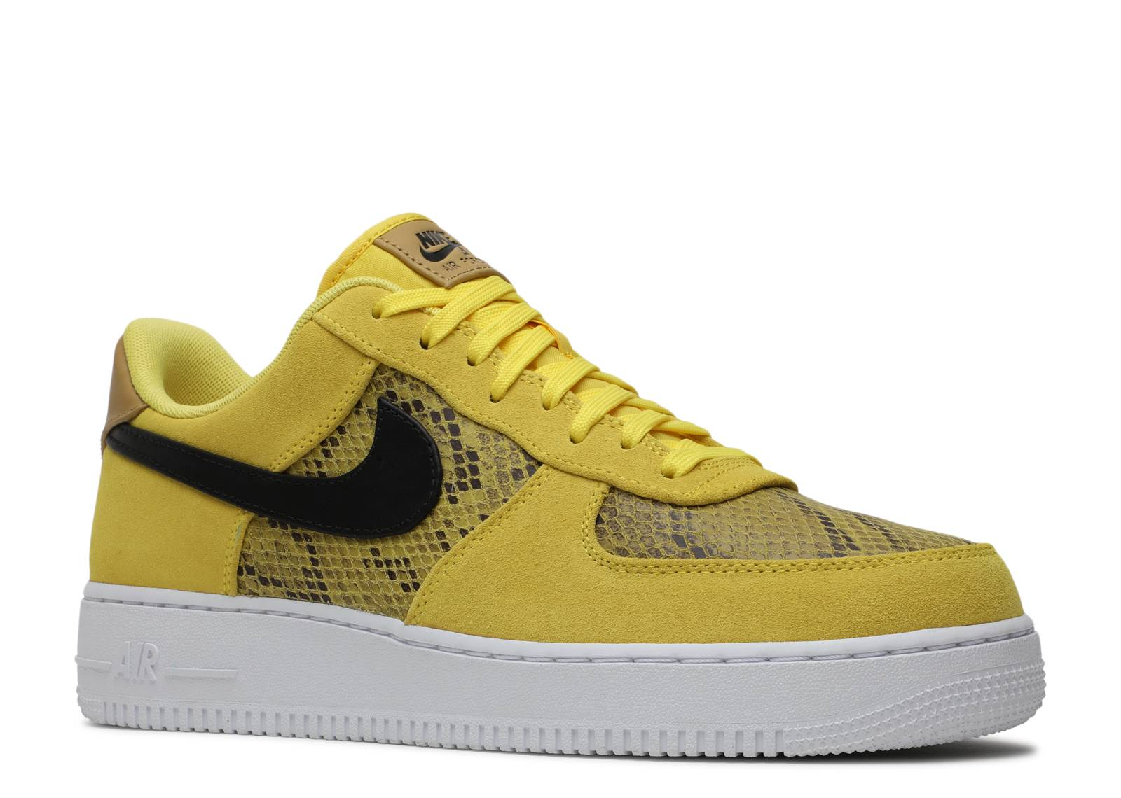 Air Force 1 Low Yellow Snakeskin Nike Bq4424 700 Flight Club