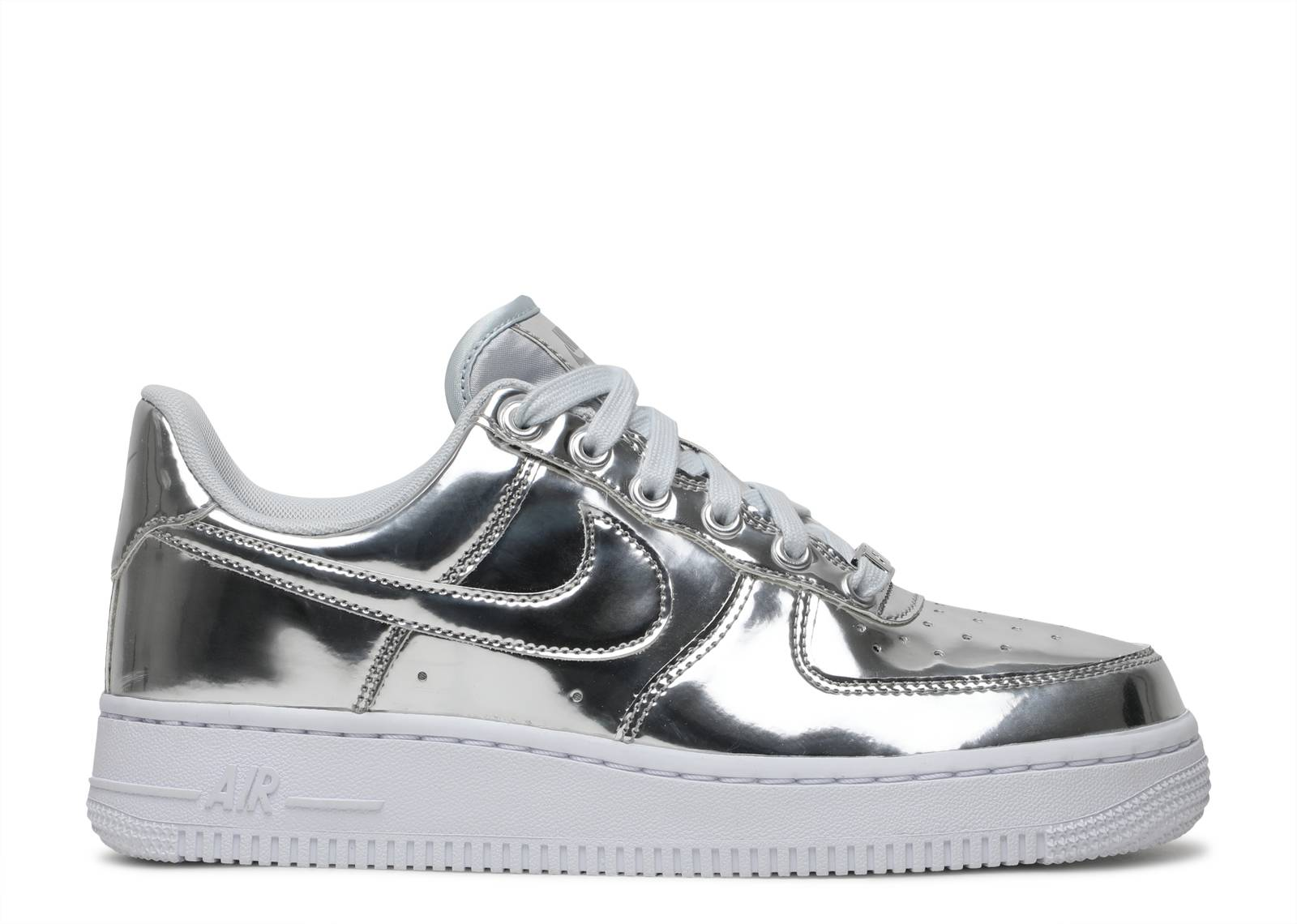 Nike Womens Air Force 1 CHROMEWHITE METALLIC SILVER