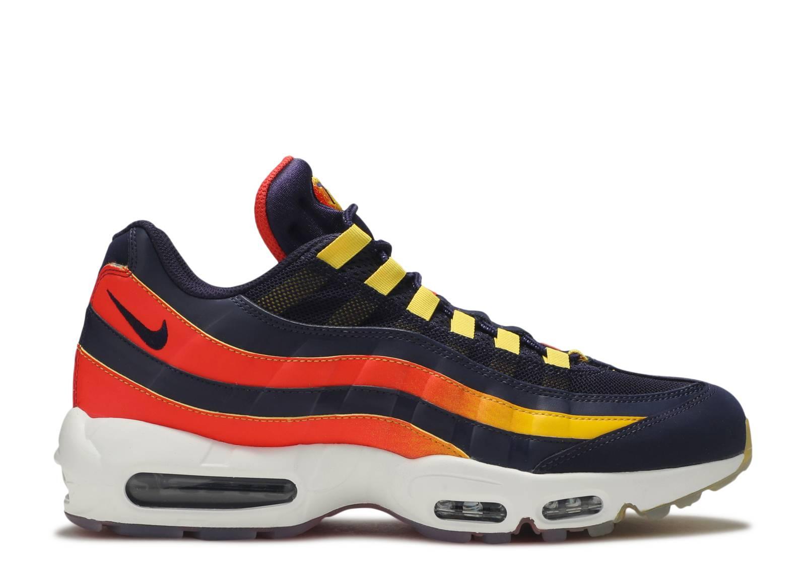 air max 95 blue orange yellow