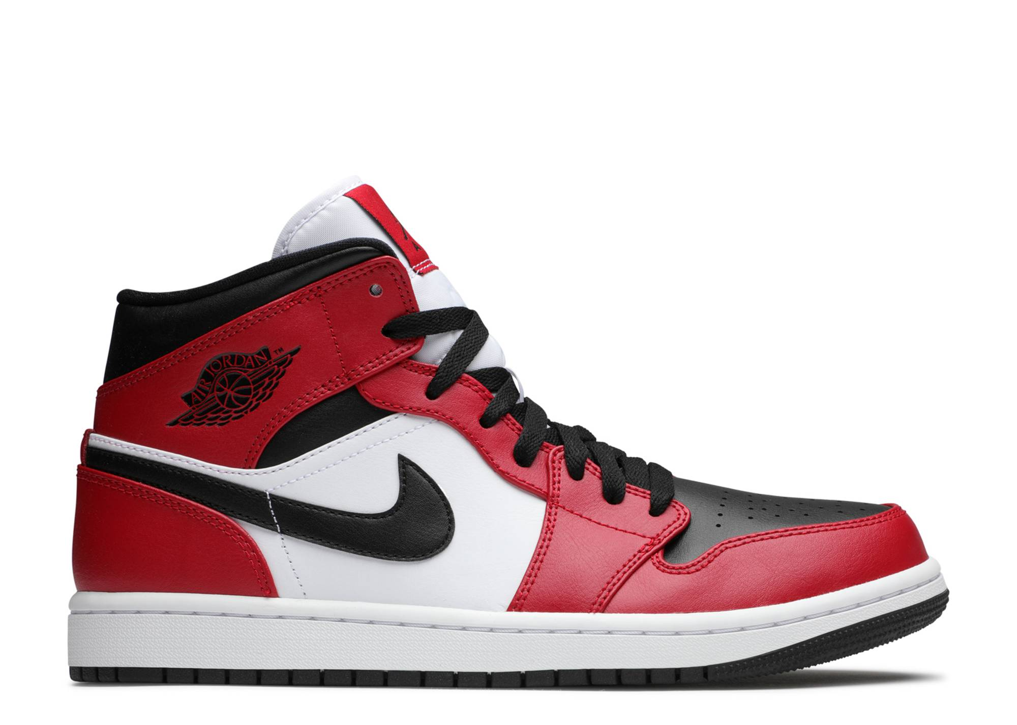 obispo ellos basura  Air Jordan 1 Mid 'Chicago Black Toe' - Air Jordan - 554724 069 - black/gym  red/white | Flight Club