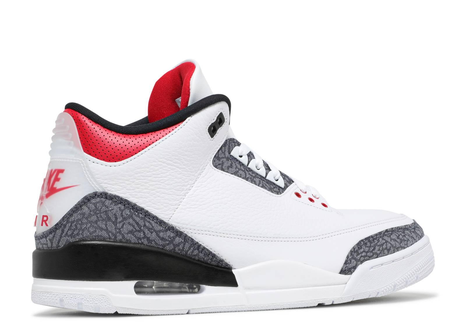 Air Jordan 3 Retro Denim SE 'Fire Red' - Air Jordan - CZ6431 100 ...