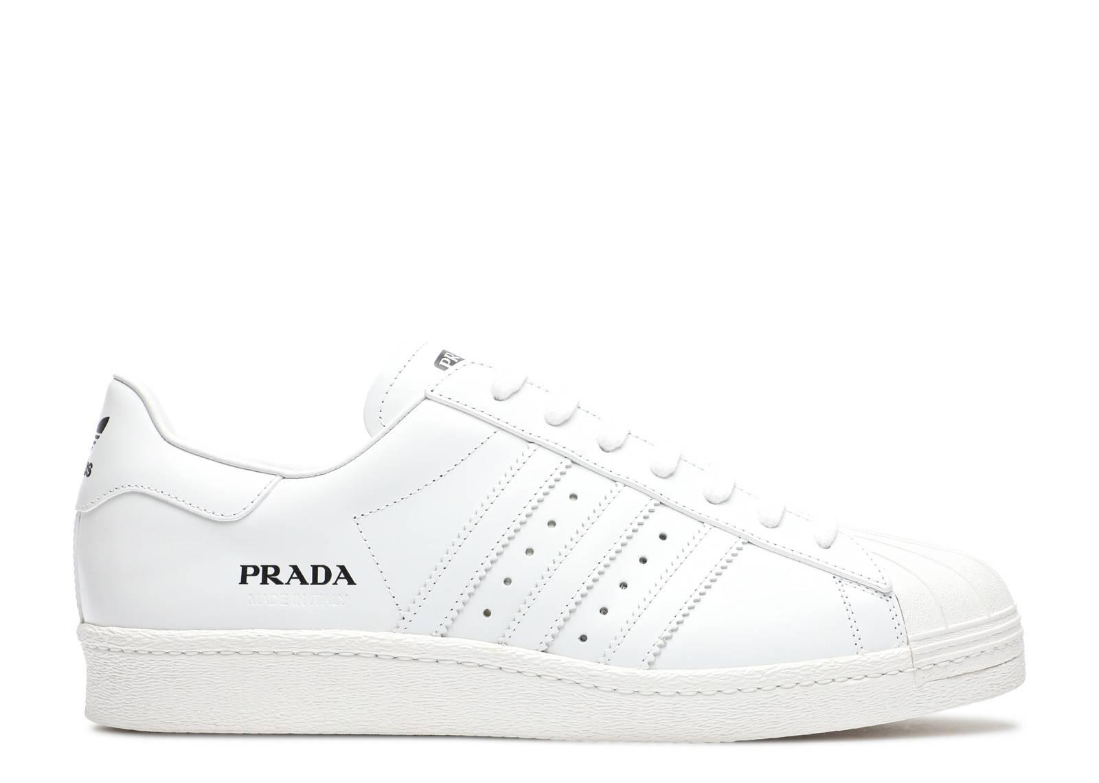 Prada x Superstar 'Core White' Adidas Release
