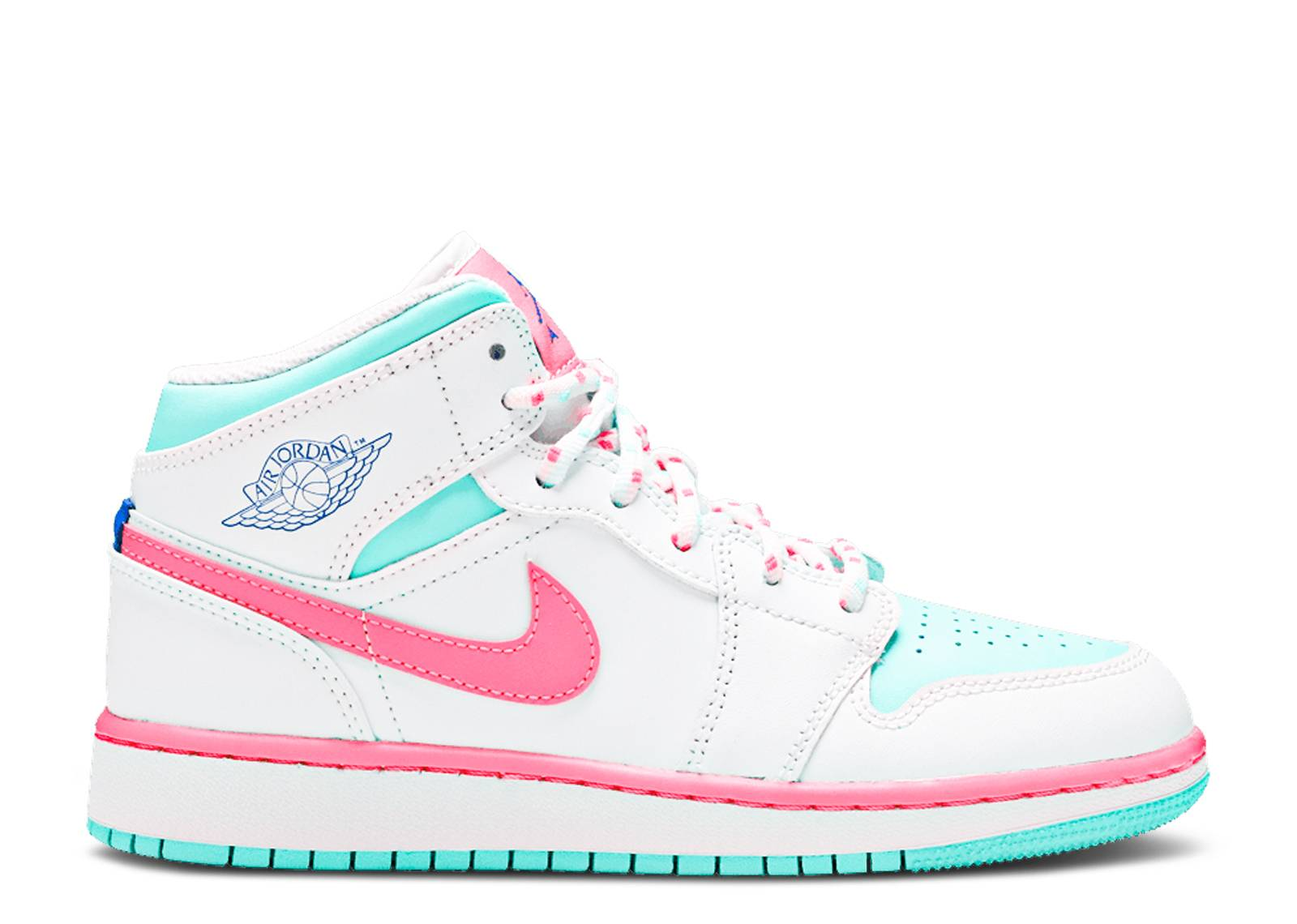 Air Jordan 1 Mid Gs Digital Pink Air Jordan 555112 102