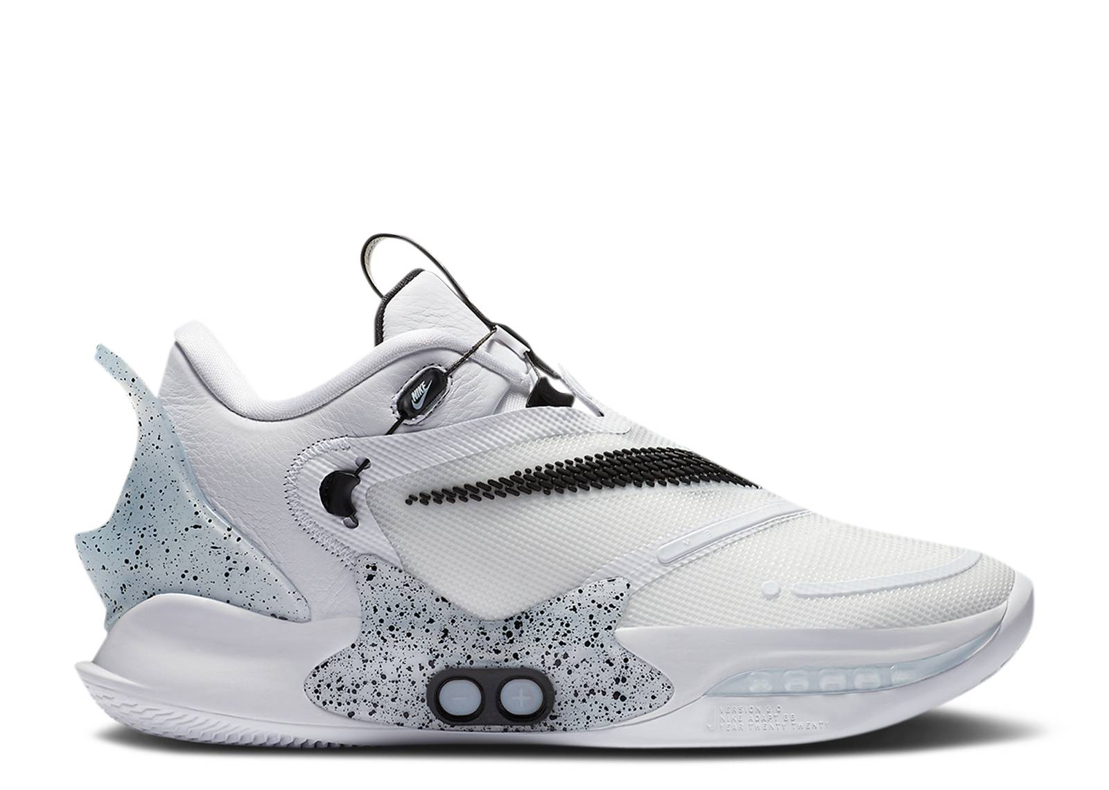 Adapt Bb 2 0 Oreo Eu Charger Nike Cv2441 101 White Black Cement Grey Flight Club