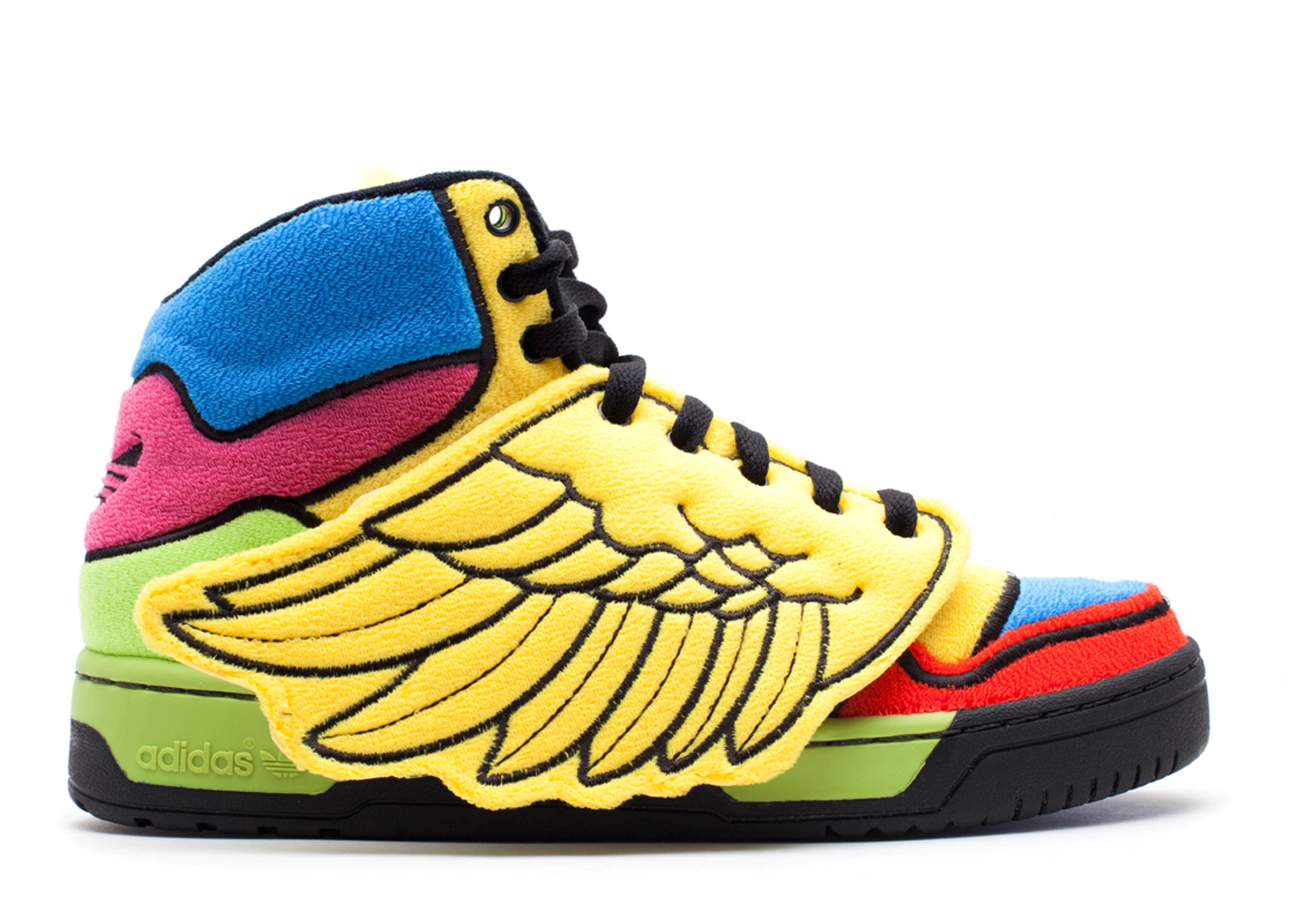 """js wings """"jeremy scott rainbow"""""""